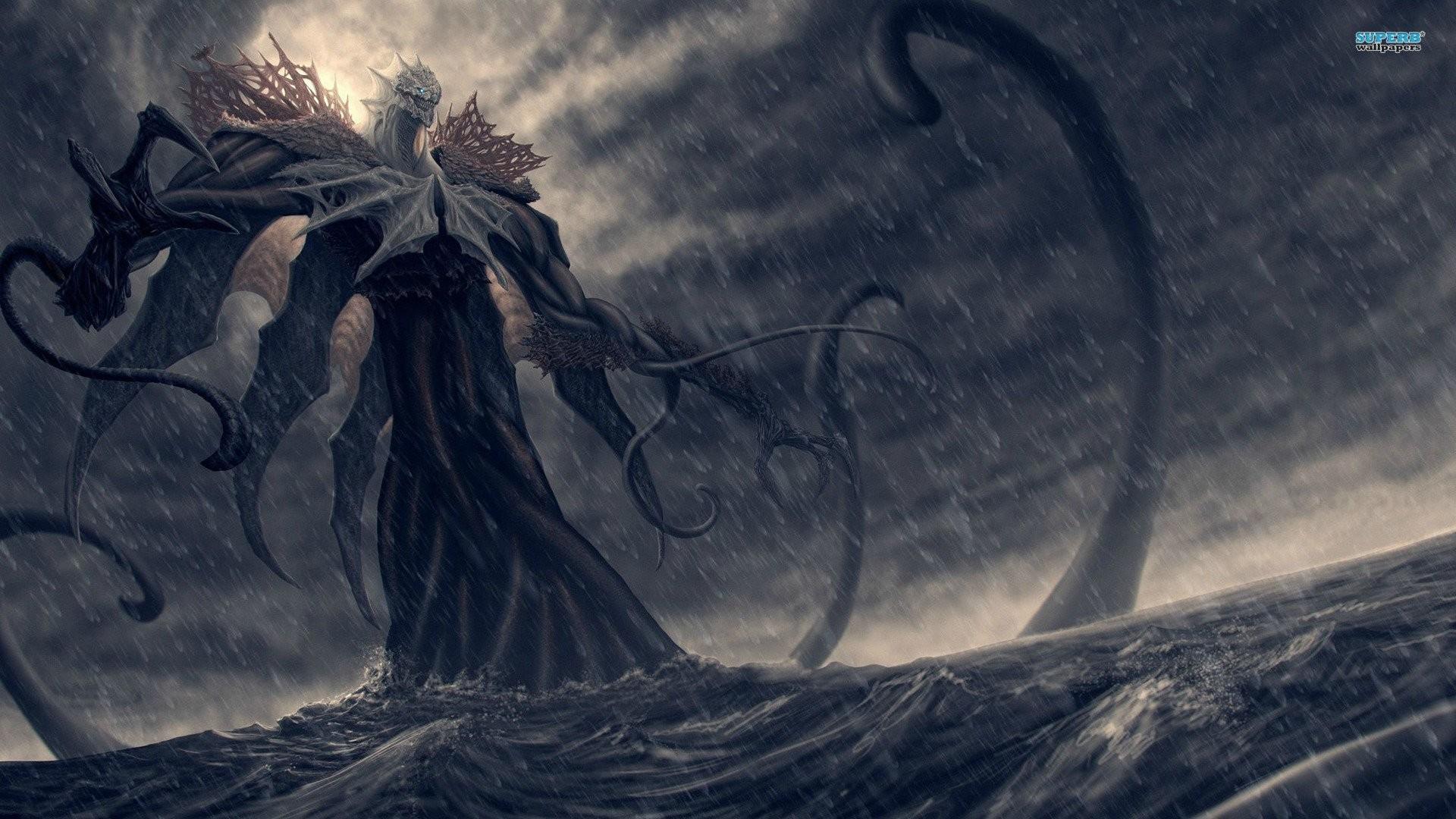Fantasy Sea Monster Wallpaper