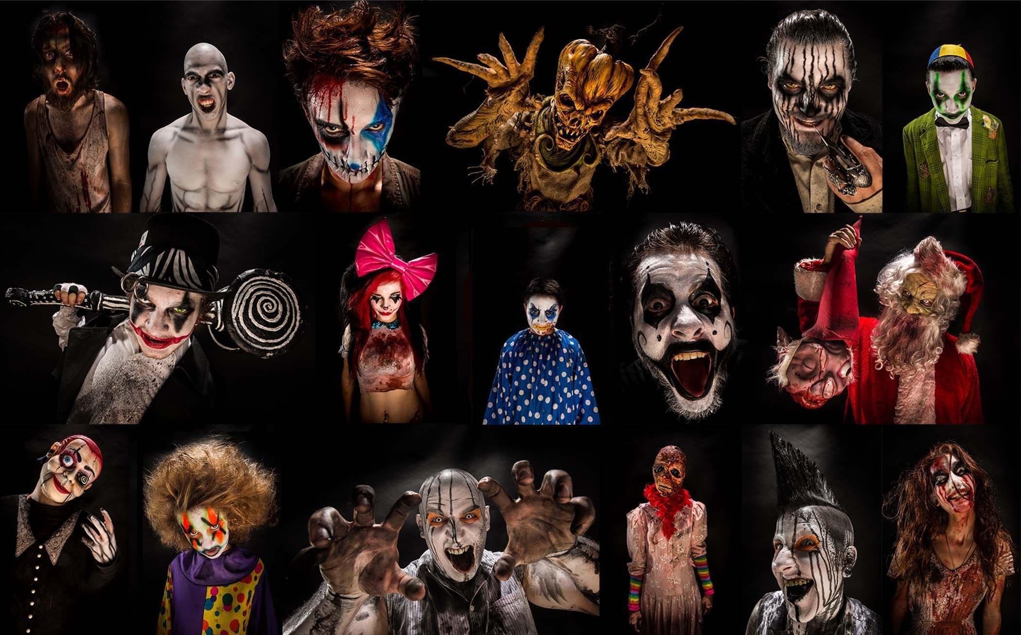 Dark Monster Halloween Horror Evil Blood Collage Poster Wallpaper At Dark  Wallpapers