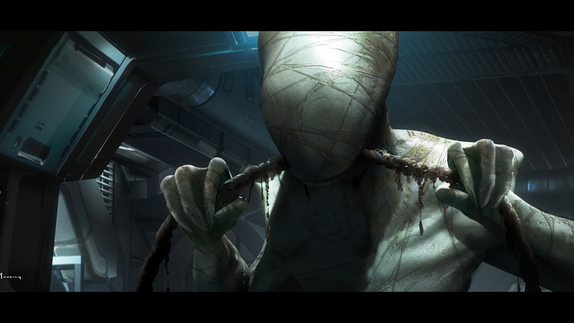 Alien Drawing Monster Creepy Horror Sci-fi Dark Wallpaper At Dark Wallpapers