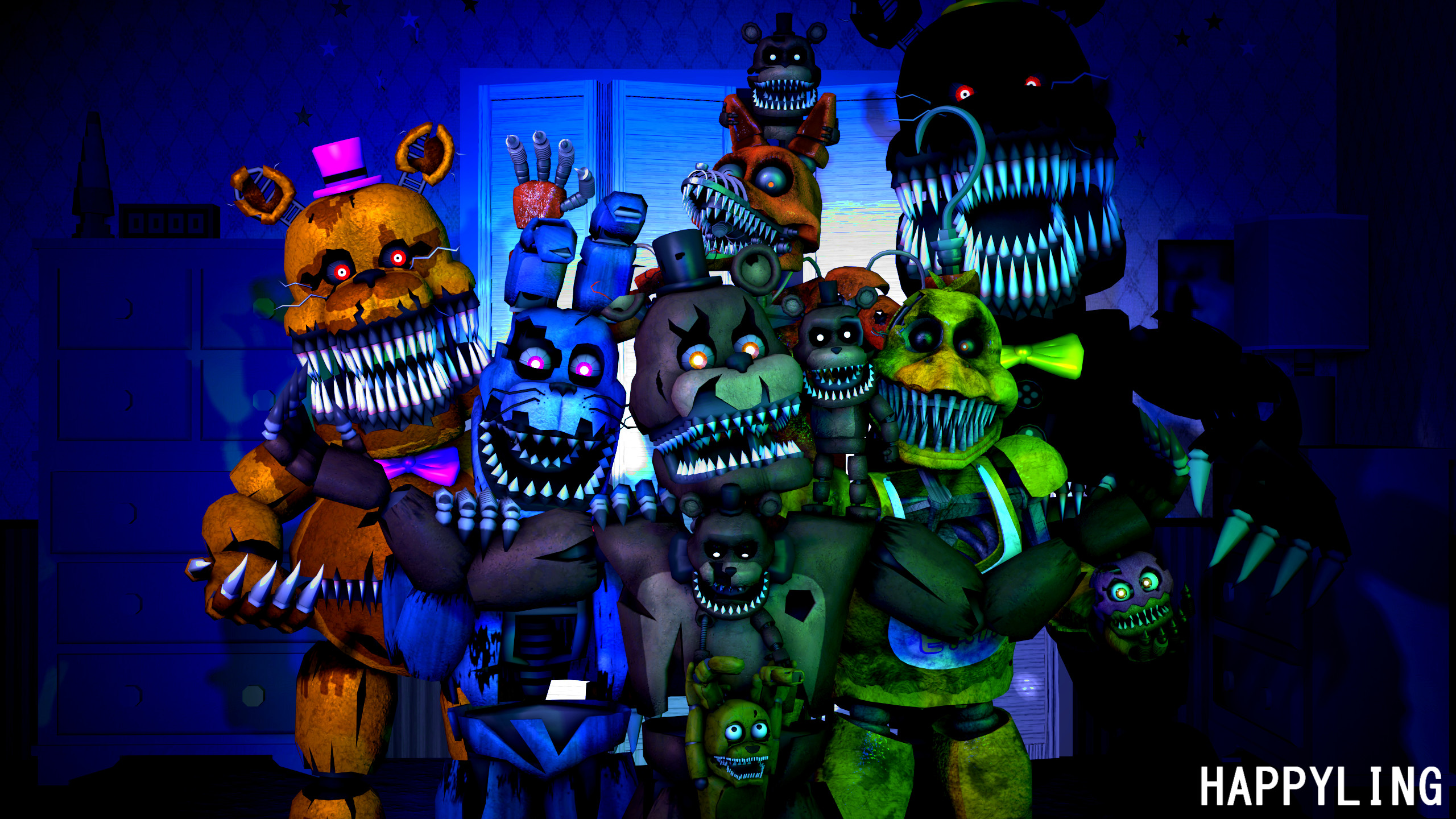 … FNAF] Five nights at Freddy's 4 by Happyling