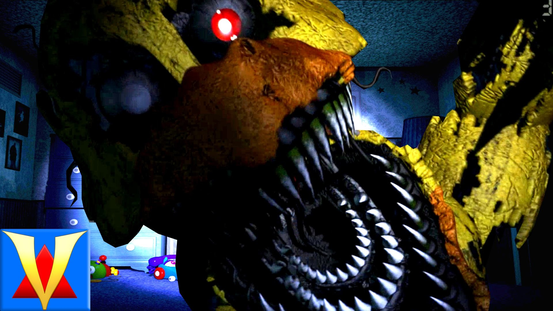 SCARIEST FNAF GAME EVER! – Five Nights At Freddy's 4 – Night 1 – YouTube