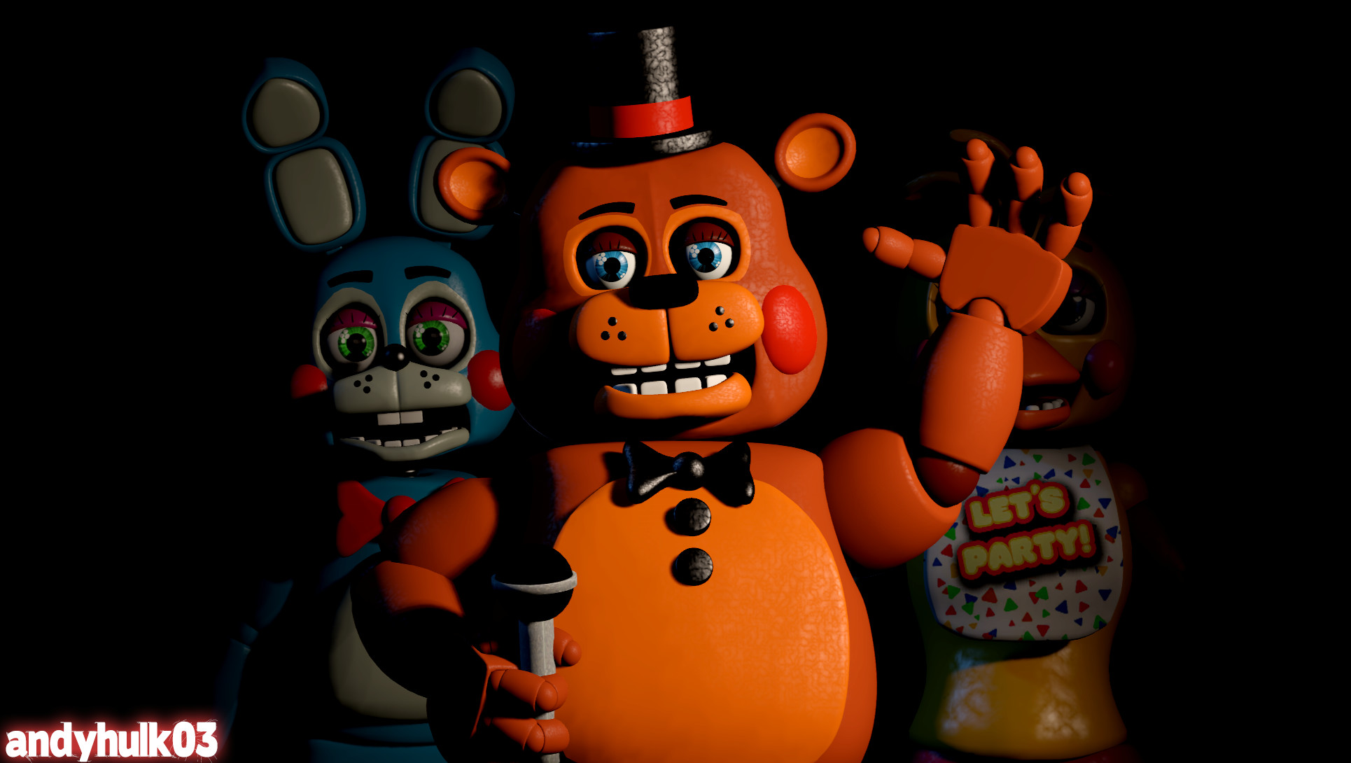 Toy Freddy and the 1987 Pizza Variety Band (FNAF 2)