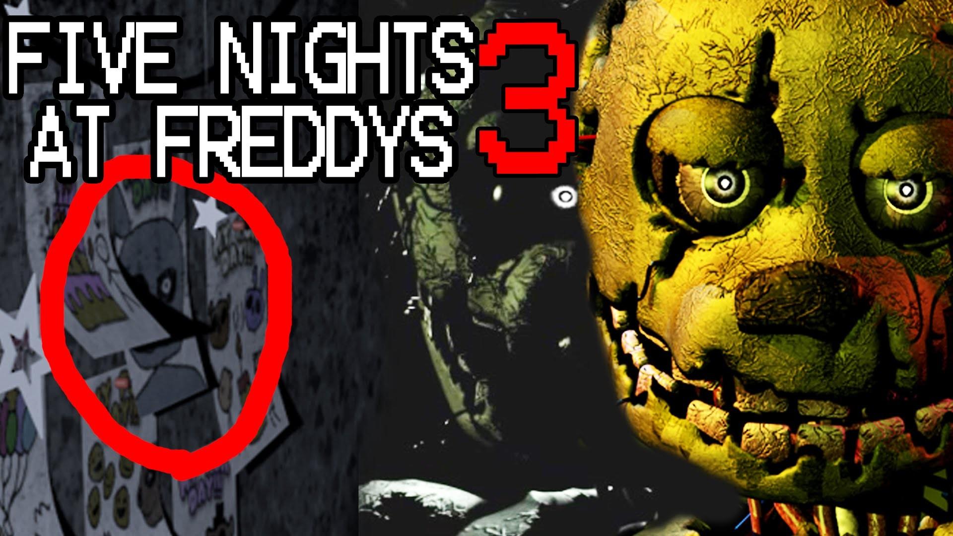 """Five Nights At Freddys 3: """"Spring Trap"""" FOUND IN FNAF1! Hidden Secret  Revealed!"""