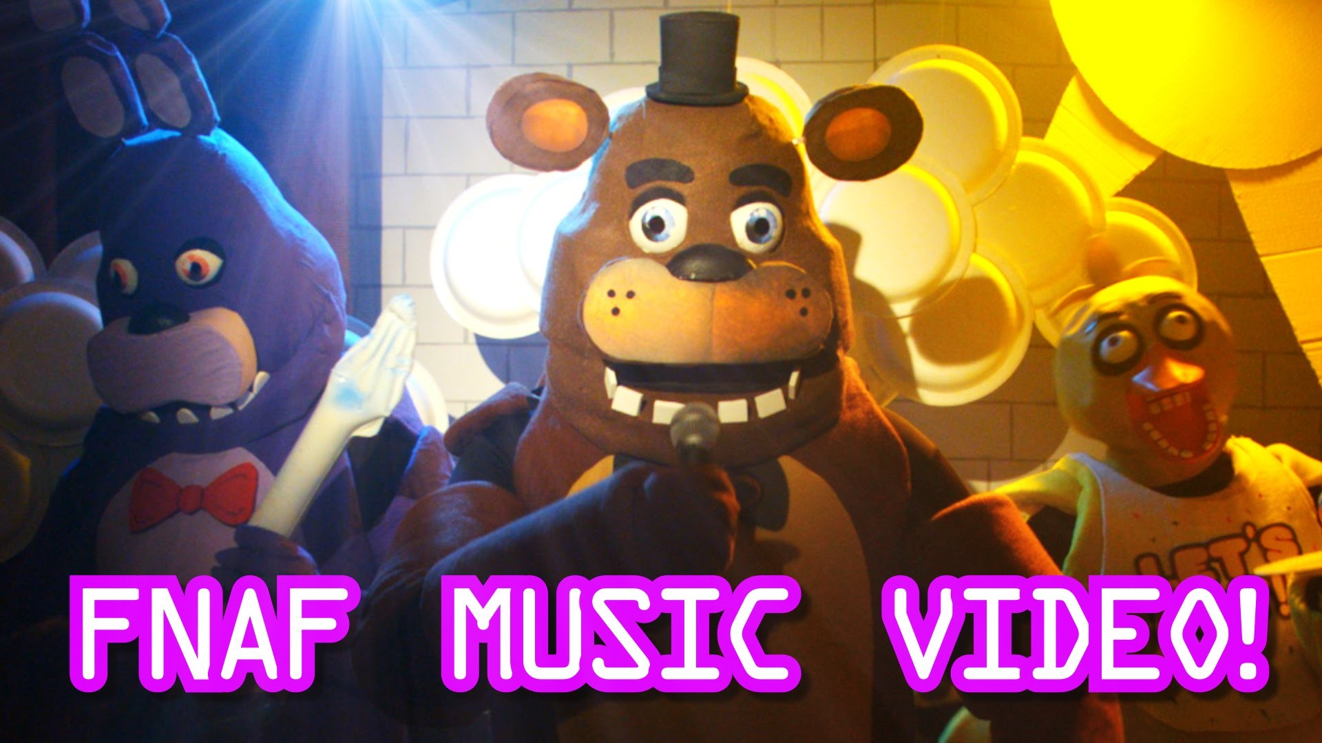 Five Nights At Freddys Live Action Music Video – FNAF Song for kids –  YouTube