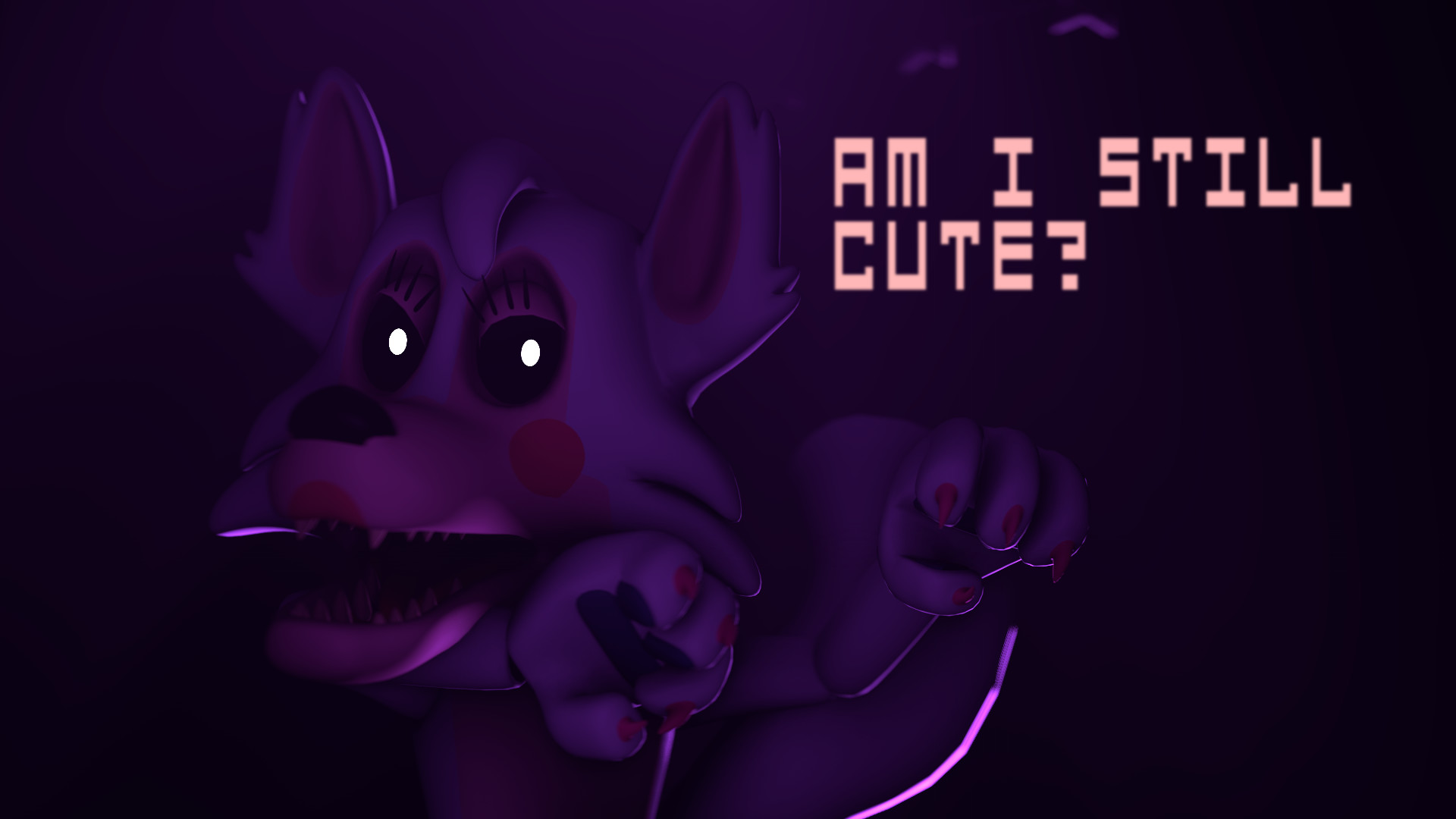 ArtworkI was using a cute Mangle picture as my wallpaper, my brother  thought it was stupid, in a fit of revenge, I made this.