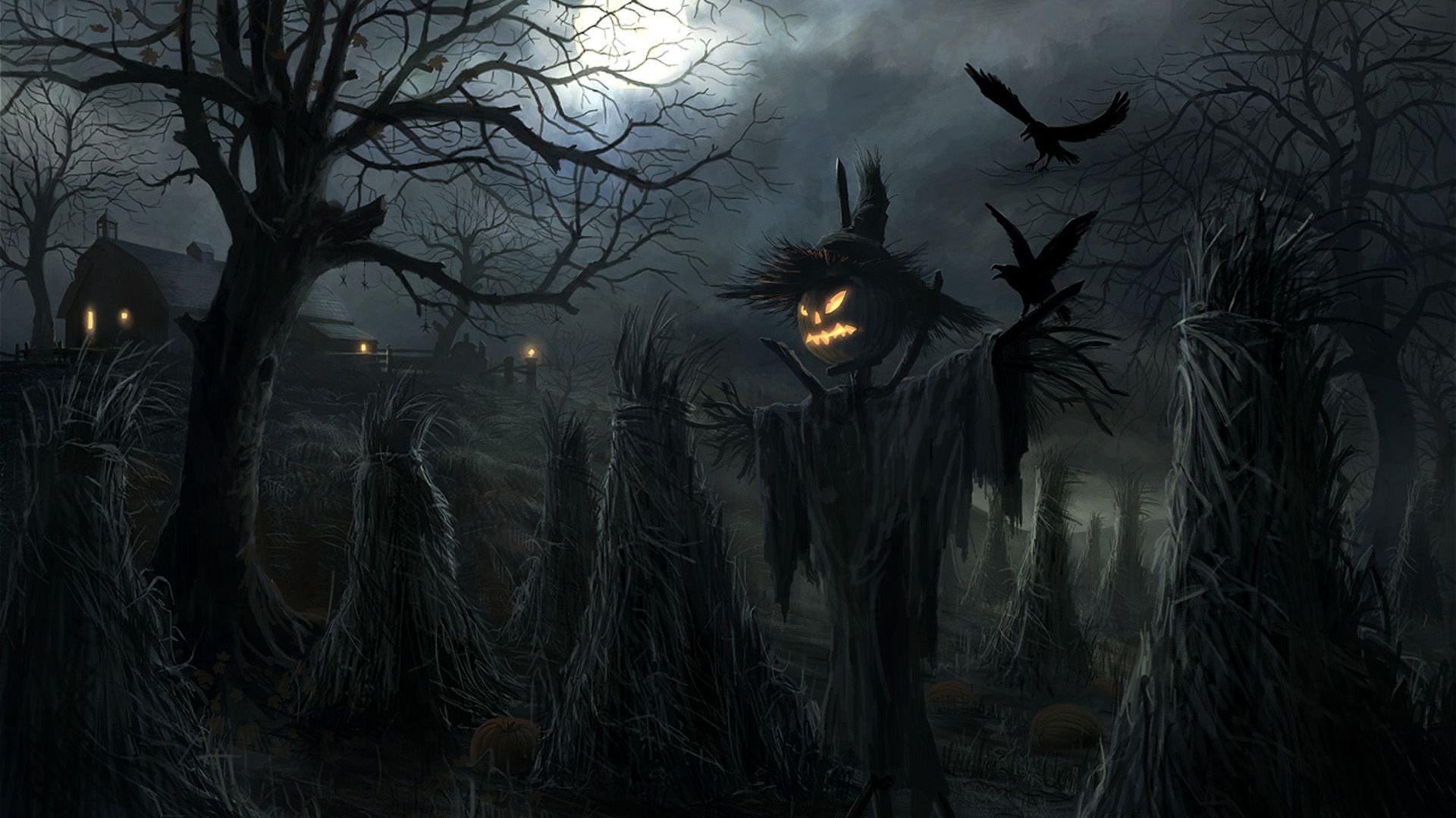 Halloween scarecrow Wallpaper #2862