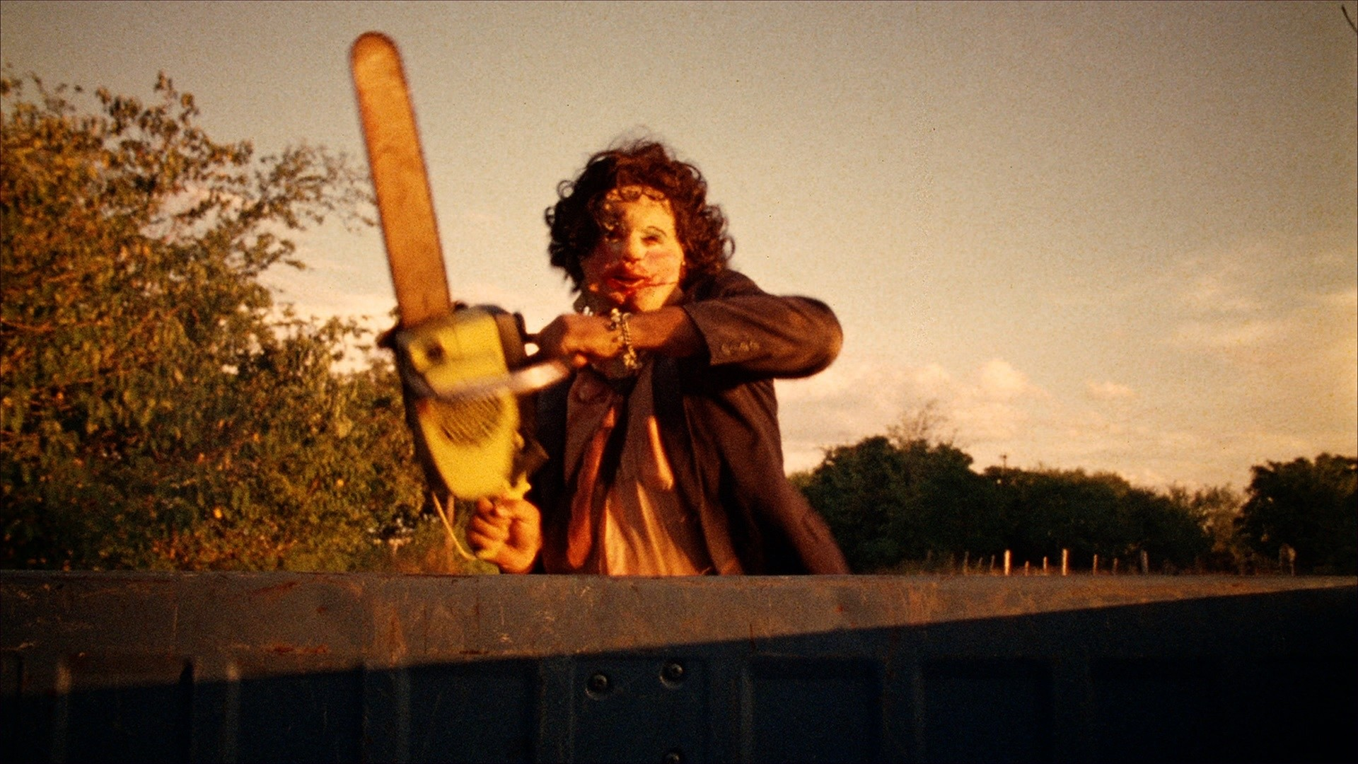Leatherface Wallpaper, A wallpaper of Leatherface from 'The Texas Chain Saw  Massacre'.