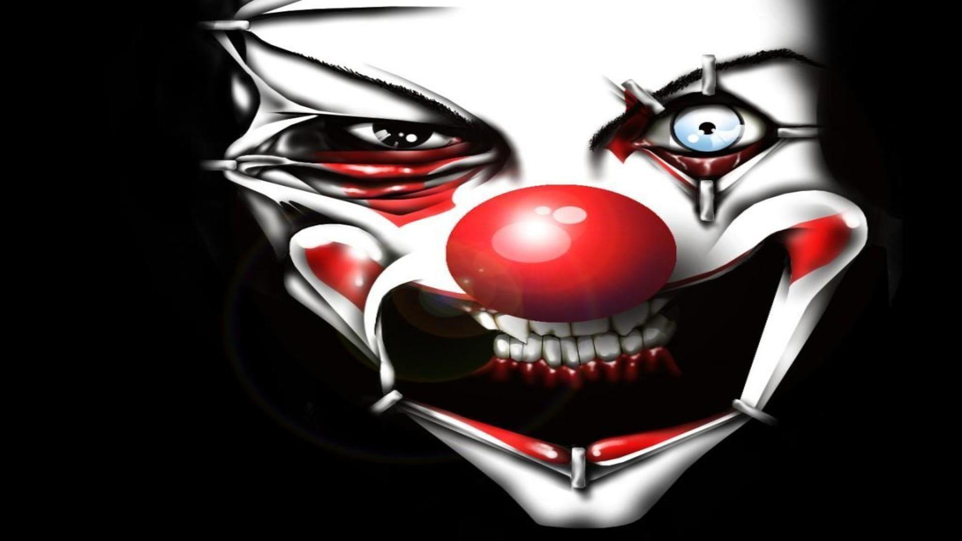 Evil clown face free desktop background – free wallpaper image