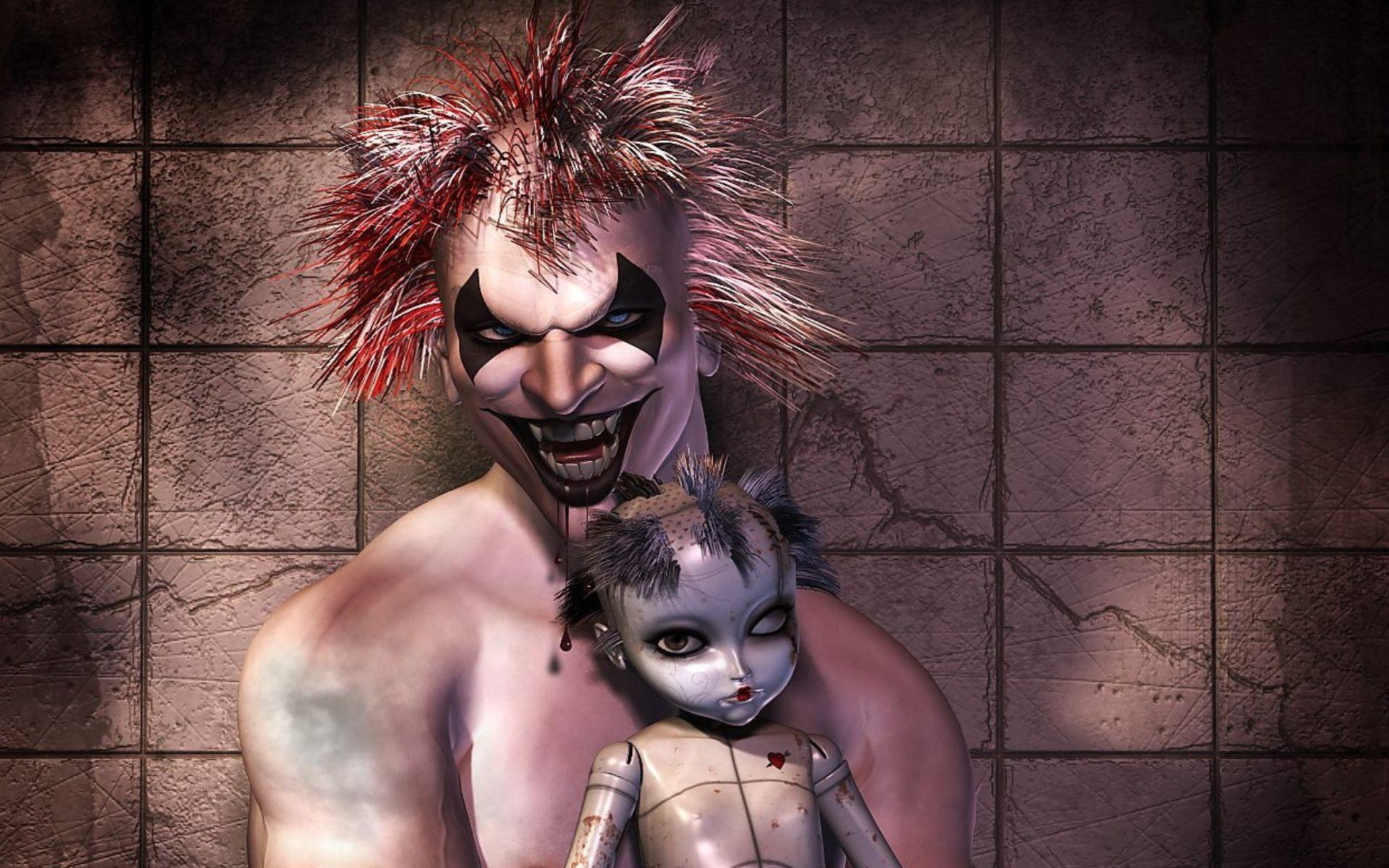 Scary Clown Wallpaper Scary, Clown, Fantasy, Art, Teeth, Fan .