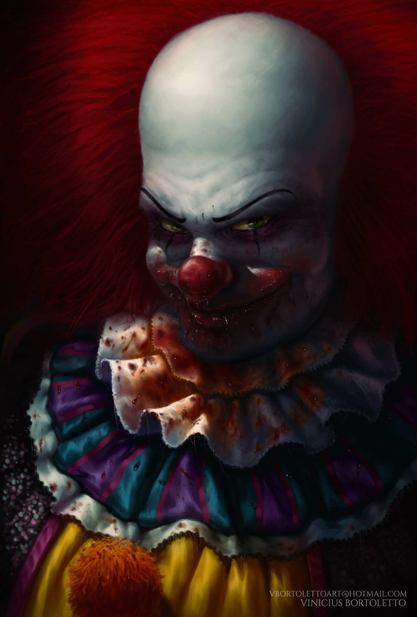 Pennywise, the clown. #art #artist #illustration #fantasy #fanart #