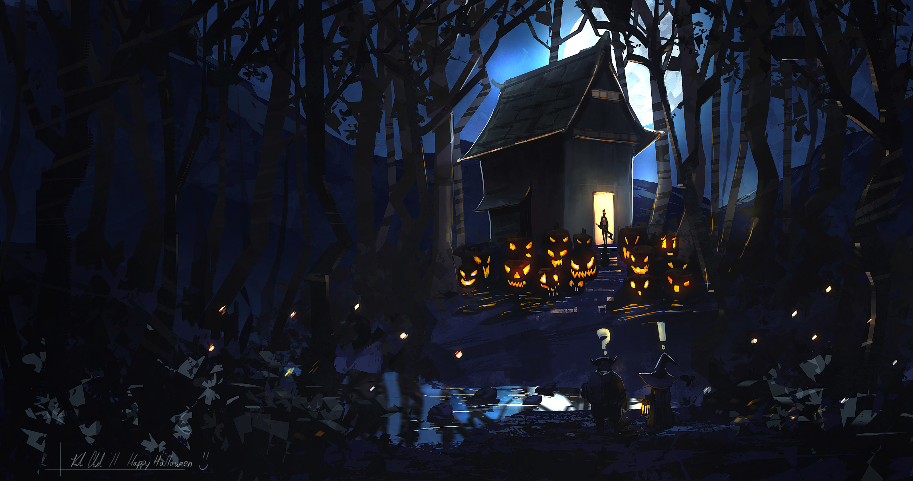 Scary Halloween Background 2014