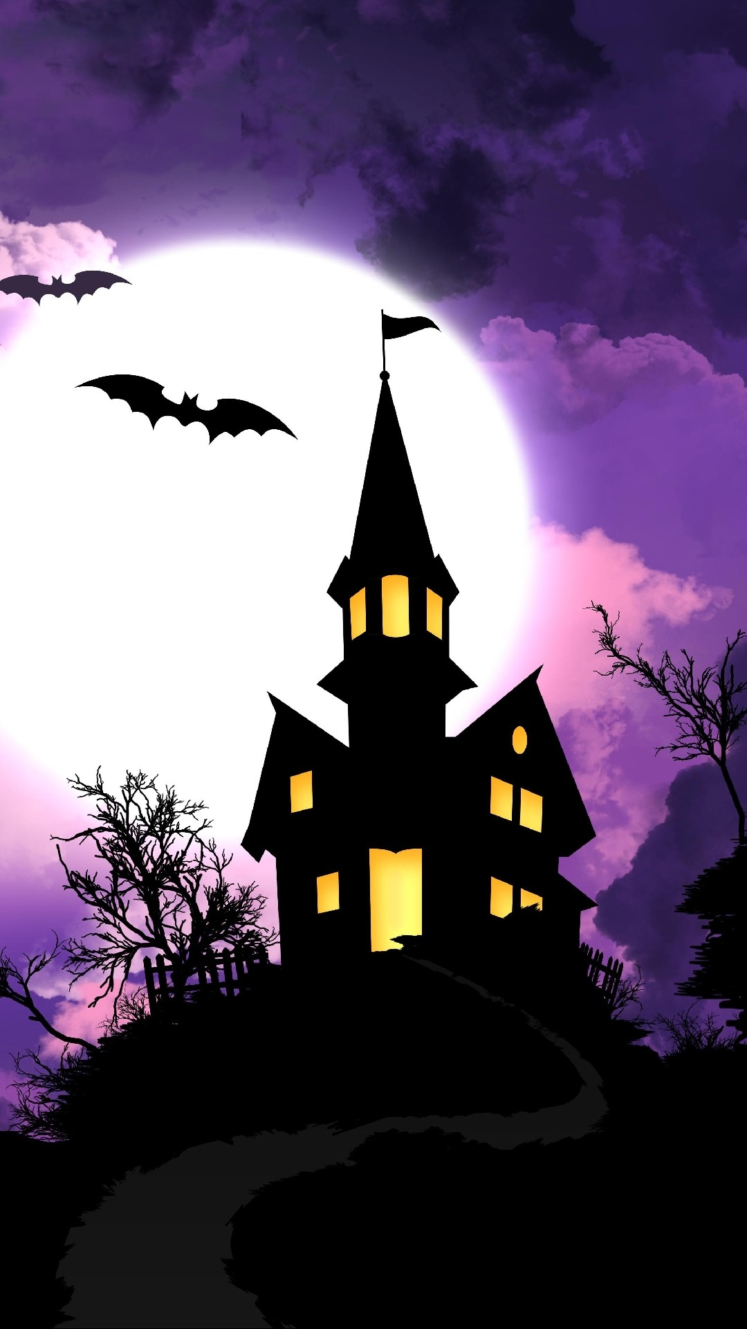 Iphone wallpaper Scary haunted house …