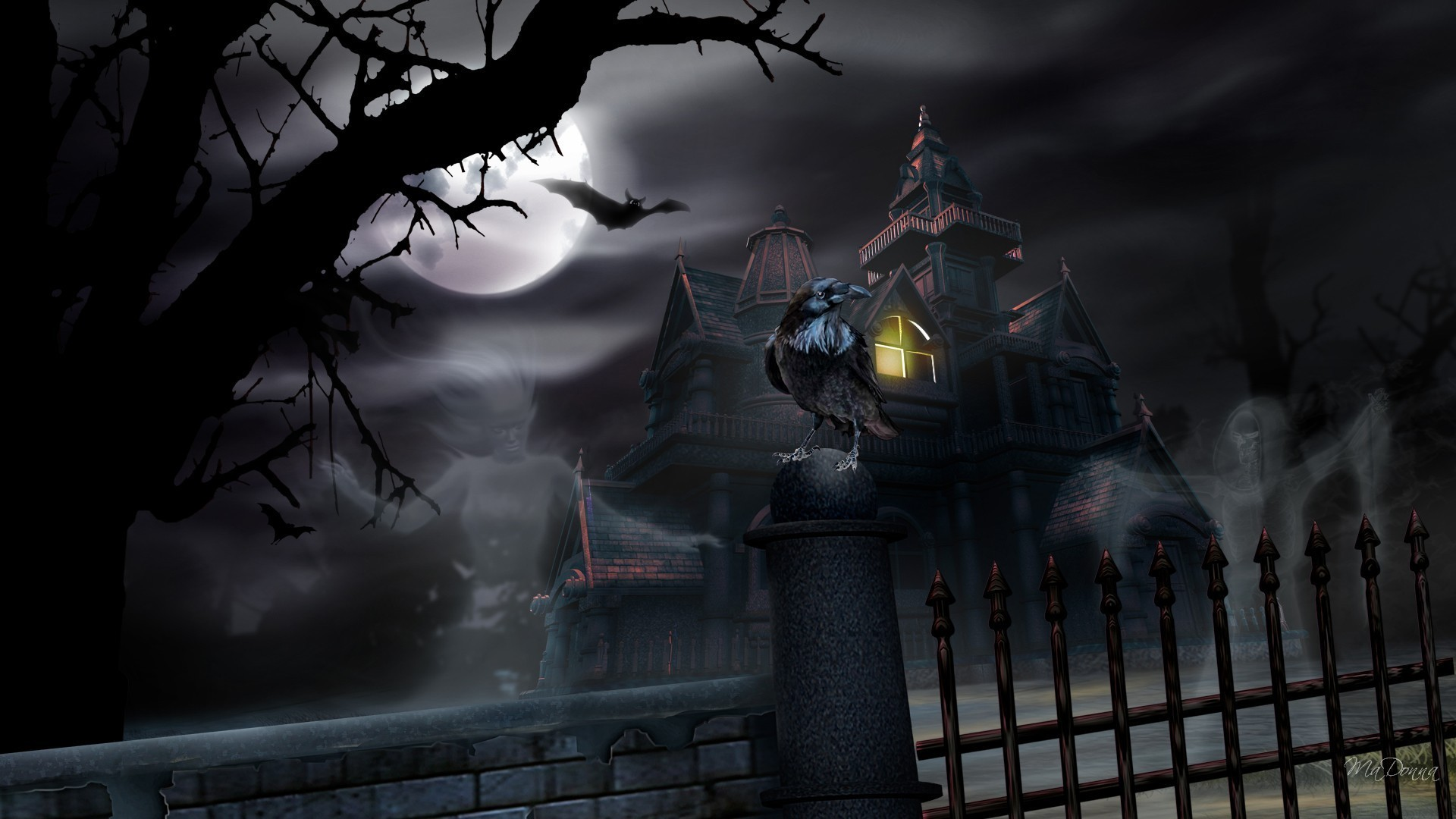 Haunted Halloween House – Other Wallpaper ID 805988 – Desktop Nexus Nature