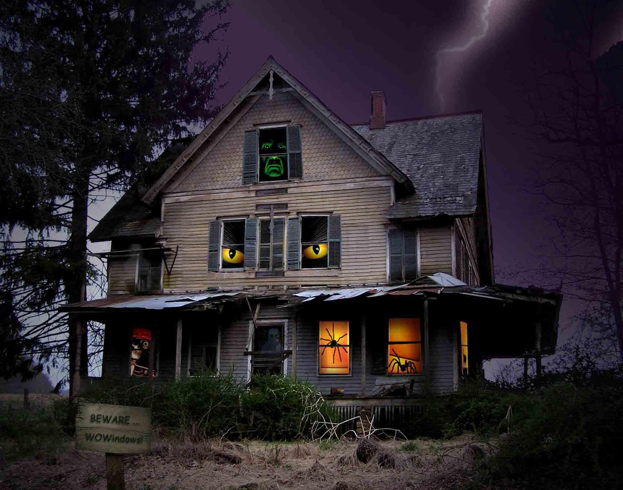 Scary Halloween Pumpkin 2012 Haunted House HD Wallpaper