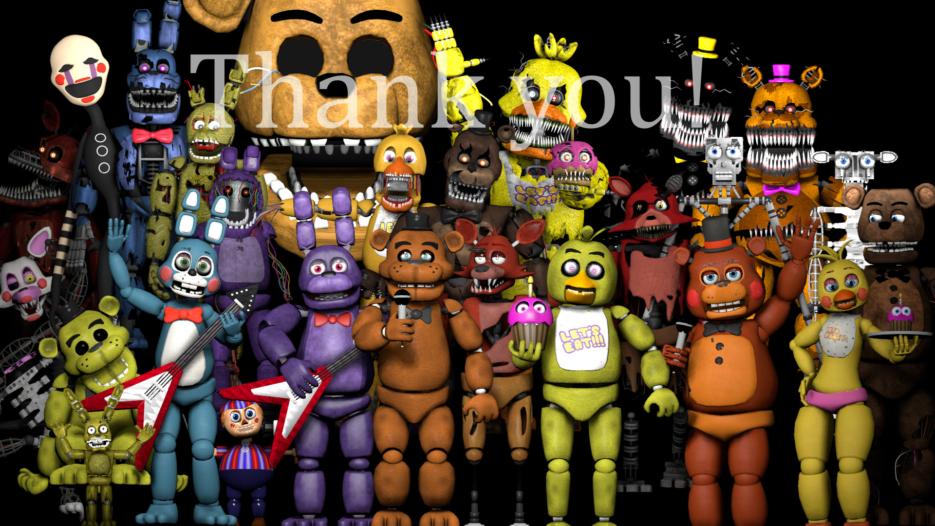 HD Quality Creative FNAF Thank You Pictures, 1920×1080, Deandrea Perras