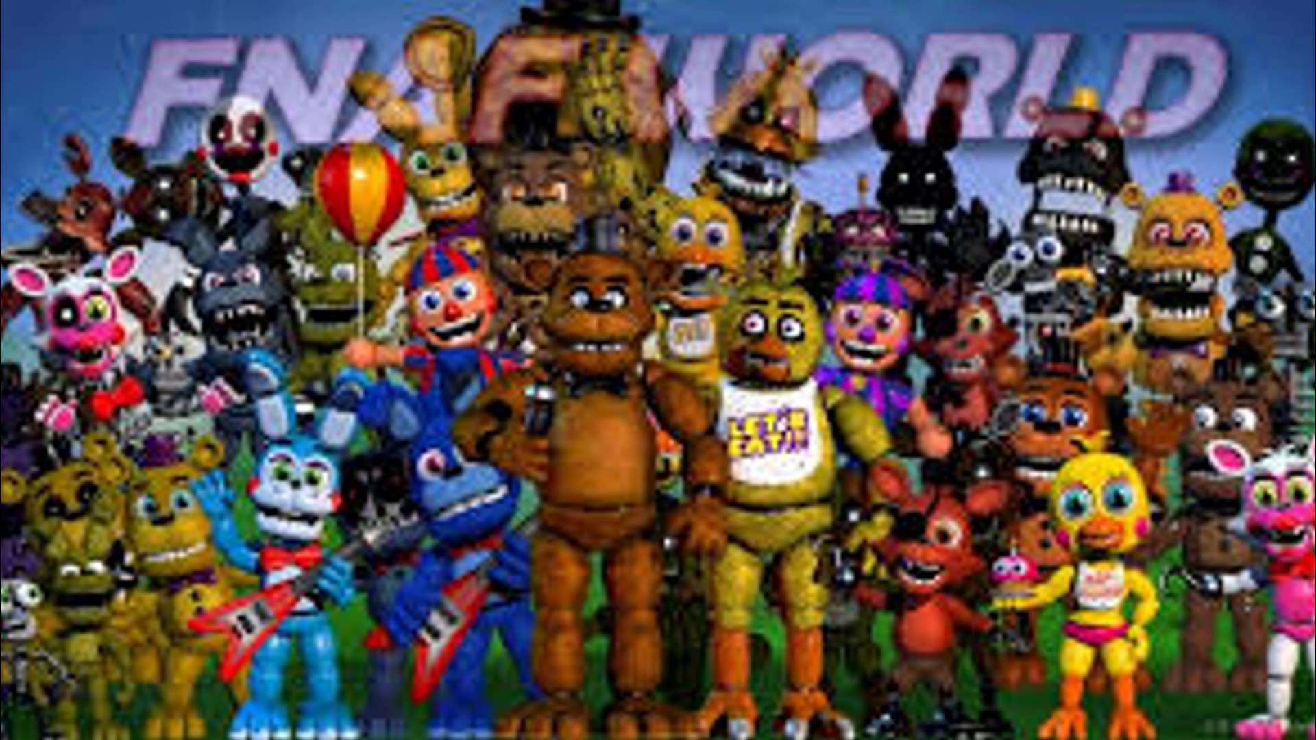 FNAF CHARACTERS THEME SONGS 1-4