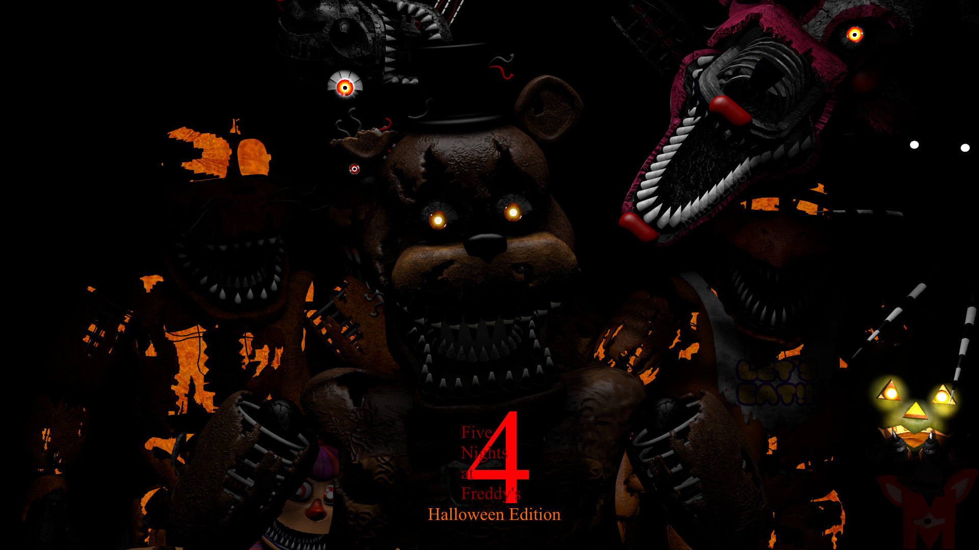 FNaF SFM: Five Nights At Freddy's 4 Halloween by Mikol1987 on .
