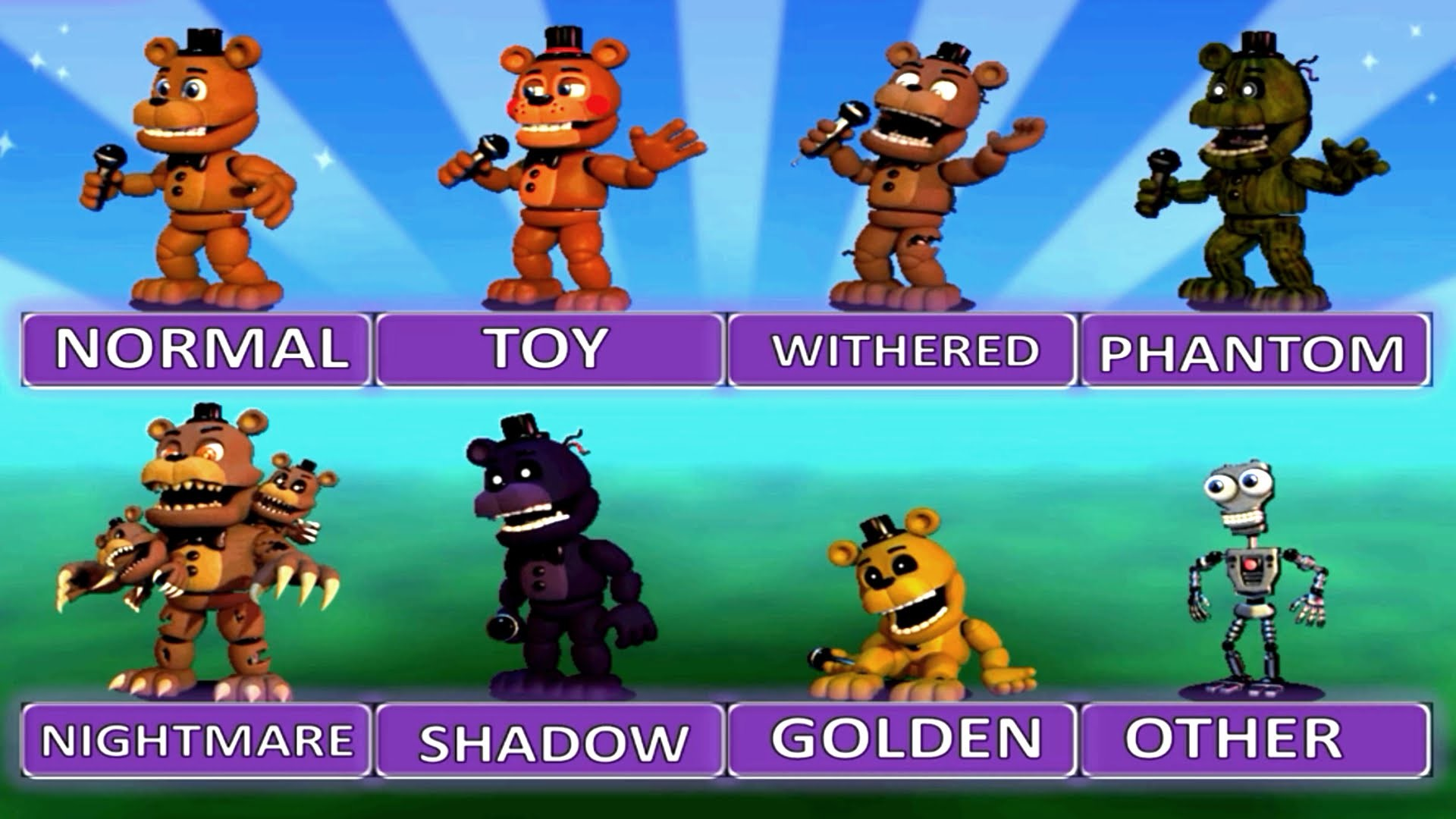 """Five Nights at Freddy's World EXTRA MENU """"All Characters""""   FNAF Fan Games    IULITM – YouTube"""