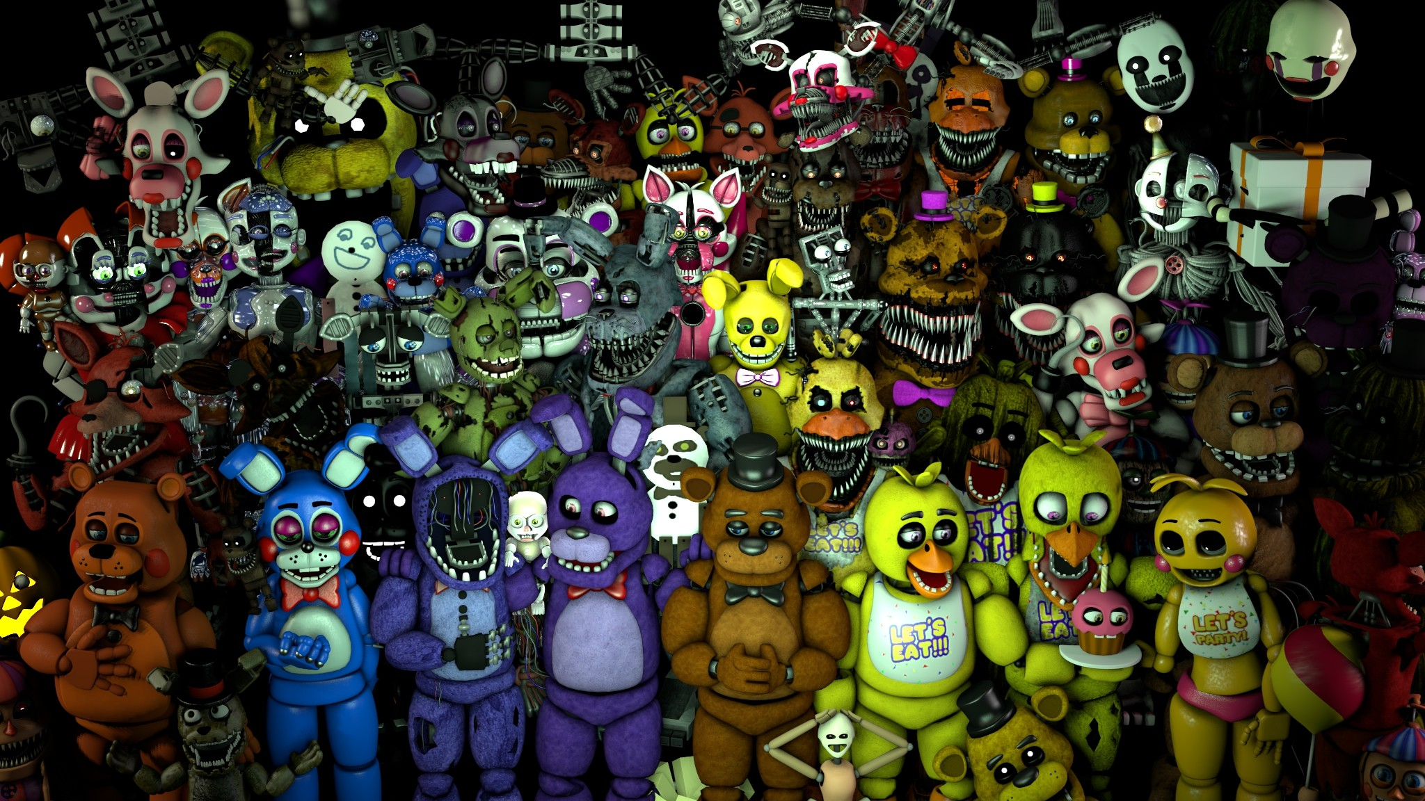 FNaF Mega Poster 2.0 by PixelKirby340 FNaF Mega Poster 2.0 by PixelKirby340
