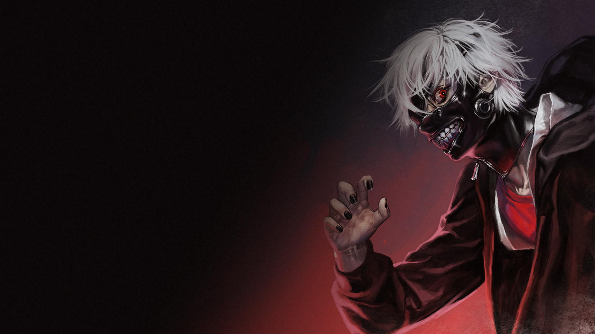 Anime – Tokyo Ghoul Dark Anime Ken Kaneki Mask Creepy Wallpaper