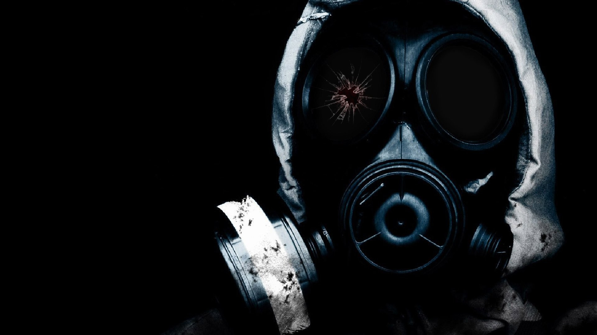 Dark – Creepy Mask Blood Anarchy Revolution Wallpaper