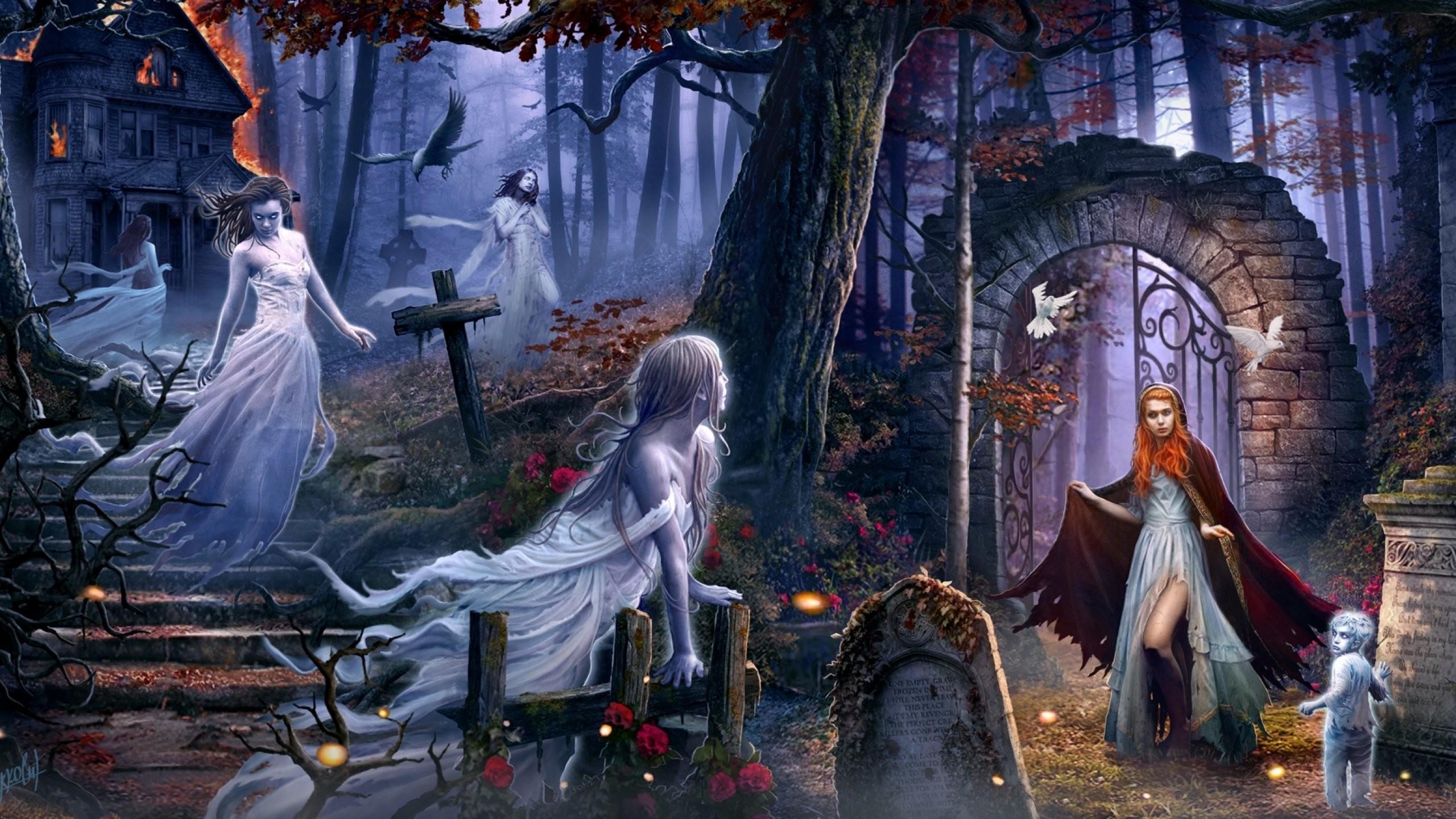 Dark Ghost Fantasy Art Artwork Horror Spooky Creepy Halloween … Dark  Ghost Fantasy Art Artwork Horror Spooky Creepy Halloween