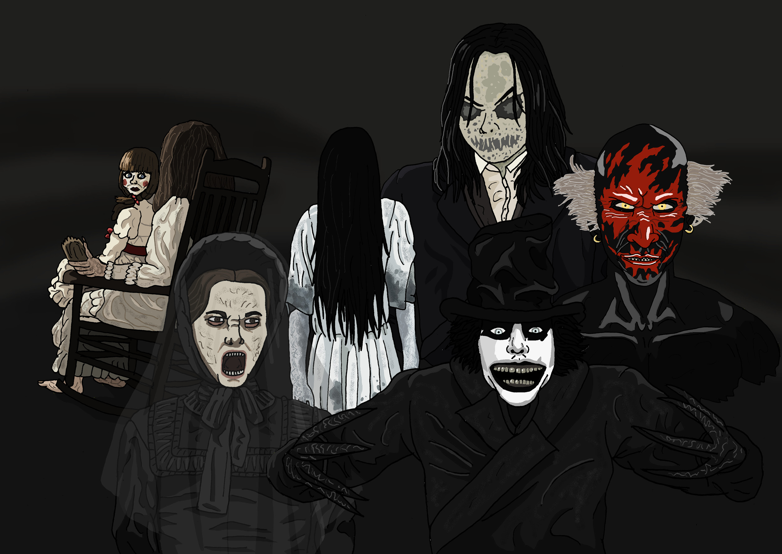 … Demonic and Ghostly Horror Icons – OMM26 by Juggernaut-Art