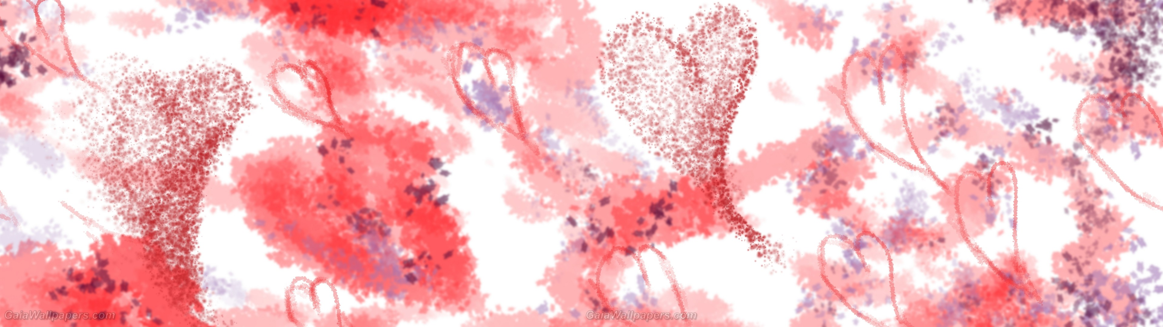 Abstract watercolor Saint-Valentine – Free desktop wallpapers