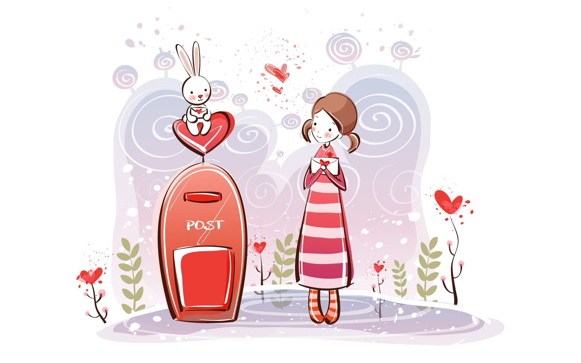 https://www.walldevil.com/wallpapers/a66/photo-cartoon-wallpaper-desken- valentine-ktqrj.jpg | love | Pinterest | Cartoon wallpaper, Cartoon and  Wallpaper