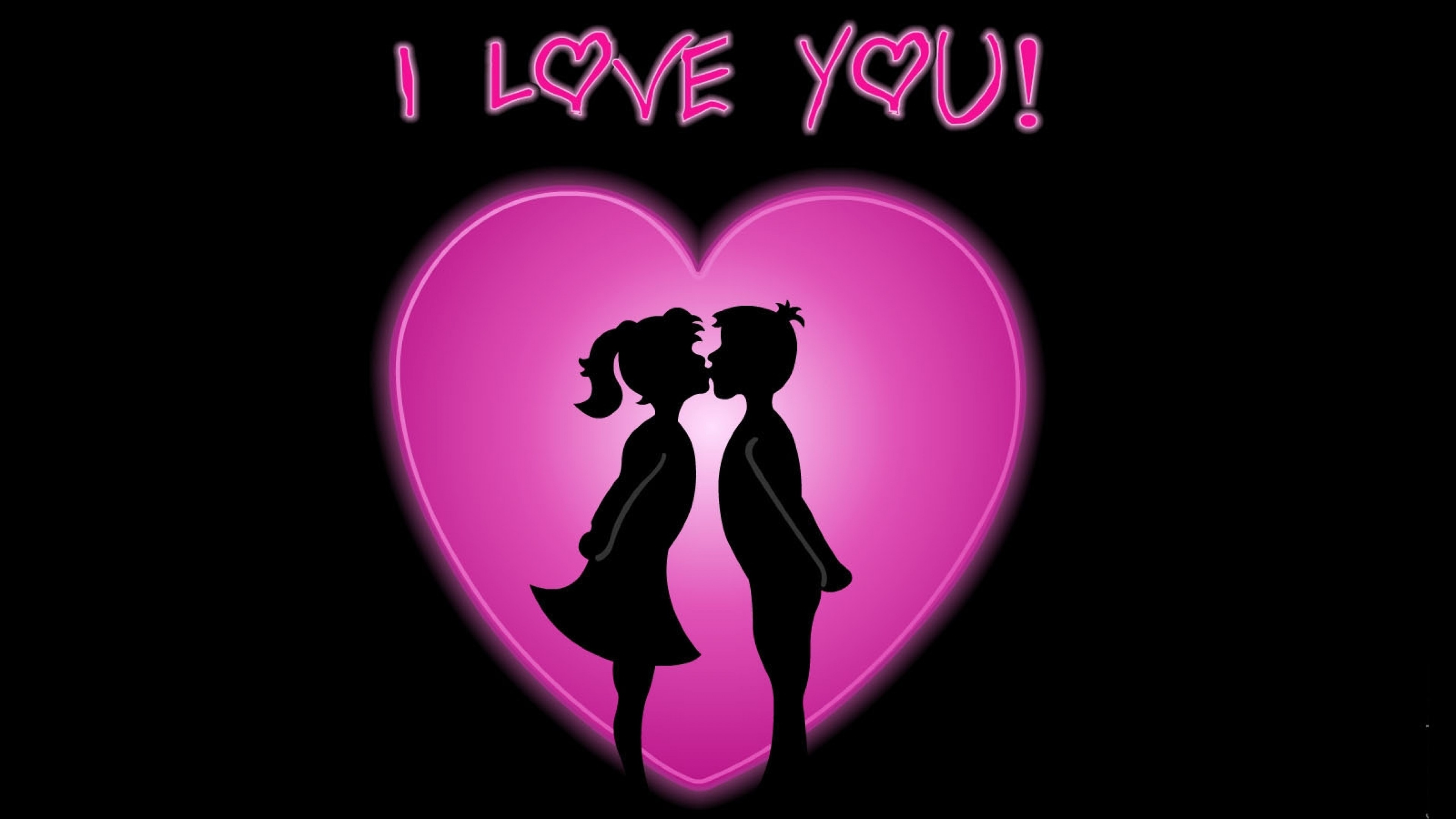Wallpaper love, couple, kiss