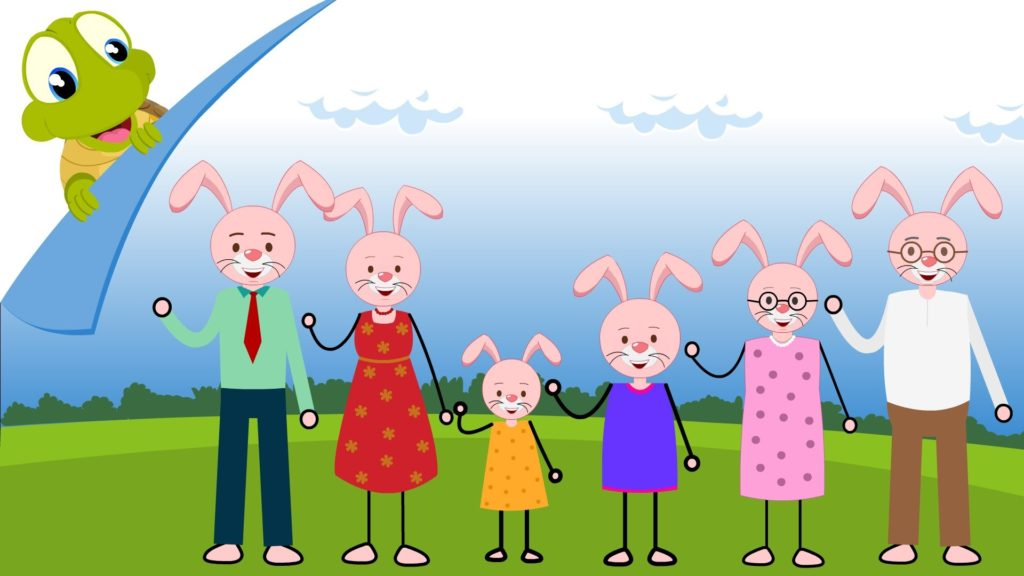 I Love my family Nursery Rhyme for Kids | Family song | Daddy Mommy Grandpa  Grandma family