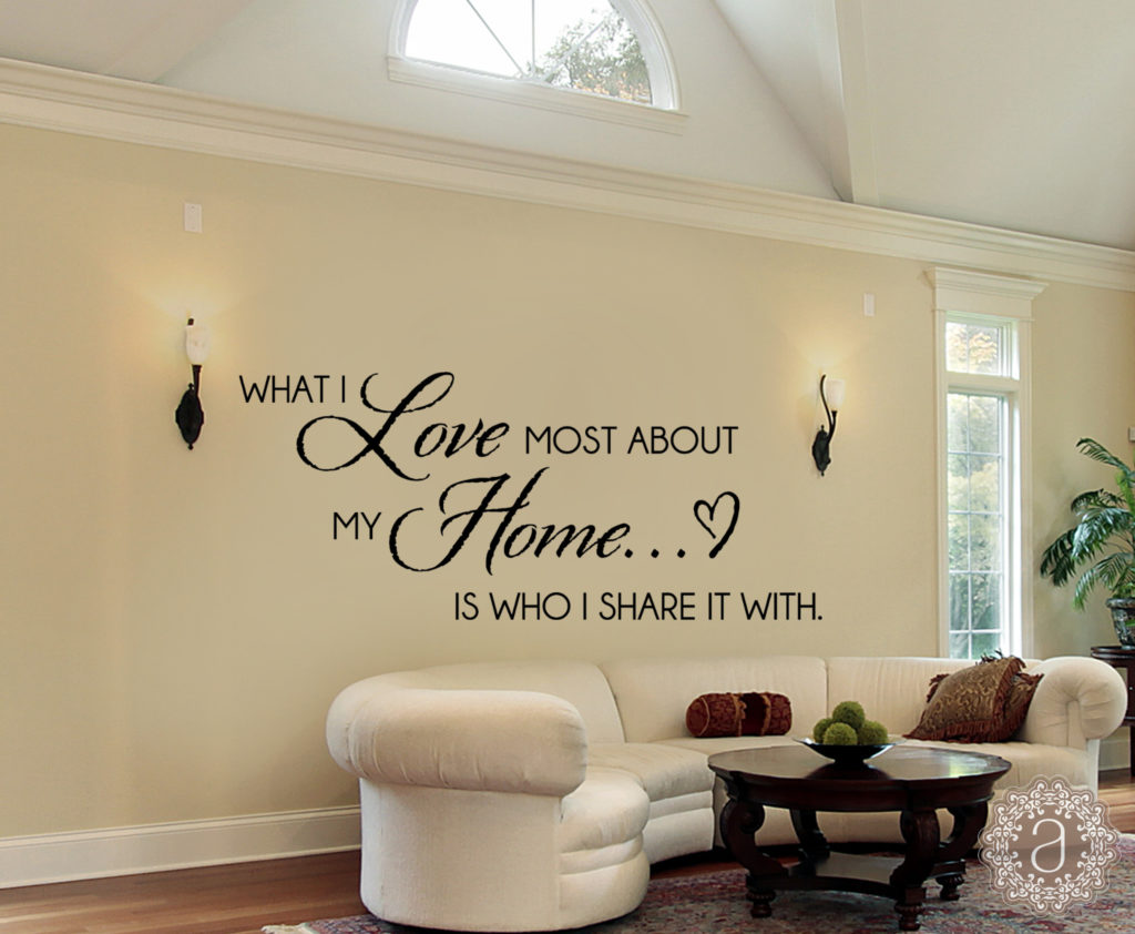 Home Wall Decals – What I love Most About my Home – Home Wall Decal
