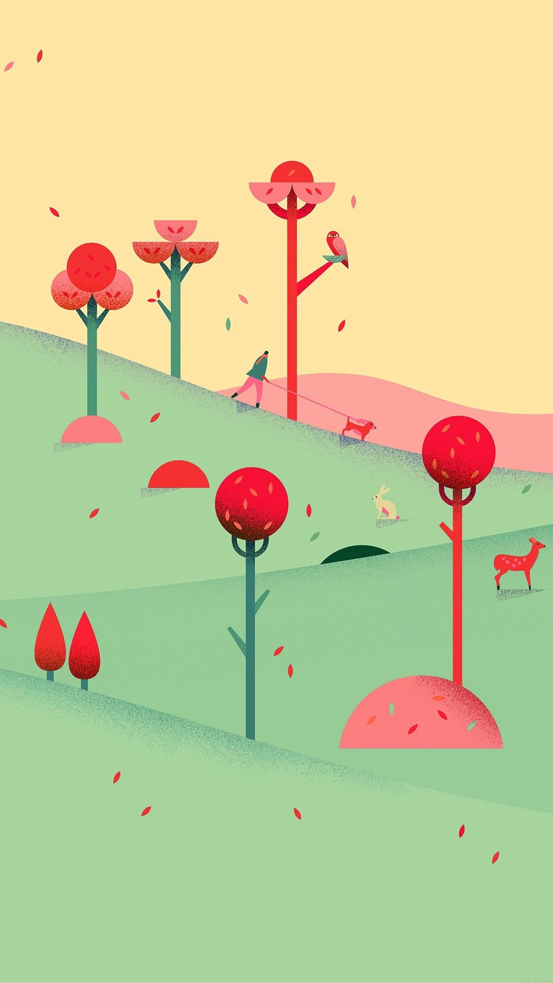 Google Lollipop September Fall Mountain Animals iphone Photos.