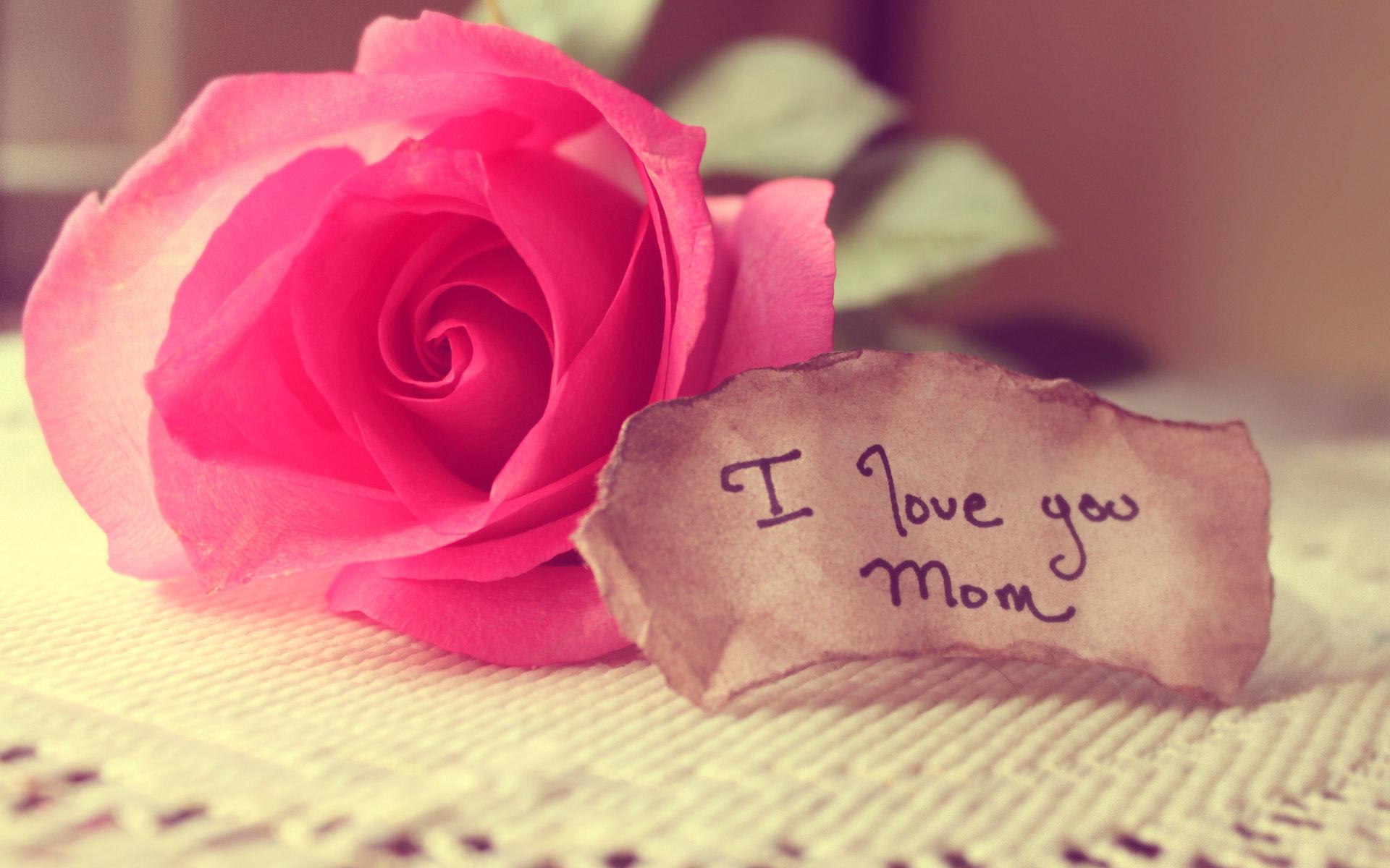 I love you mom handwritten note