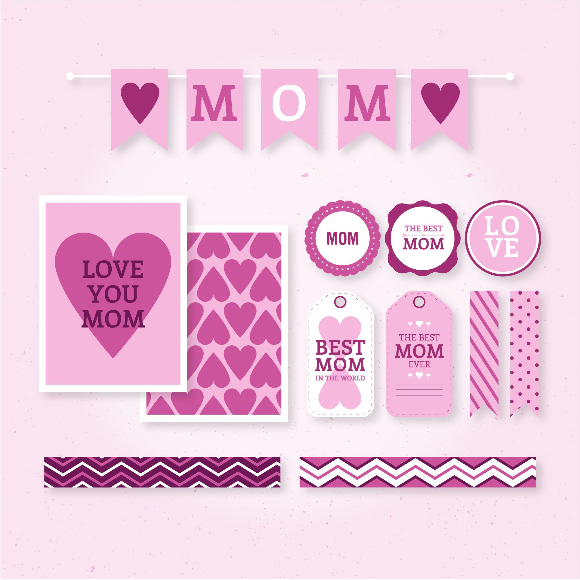 Love Happy Mother Day Vector & Wallpaper background