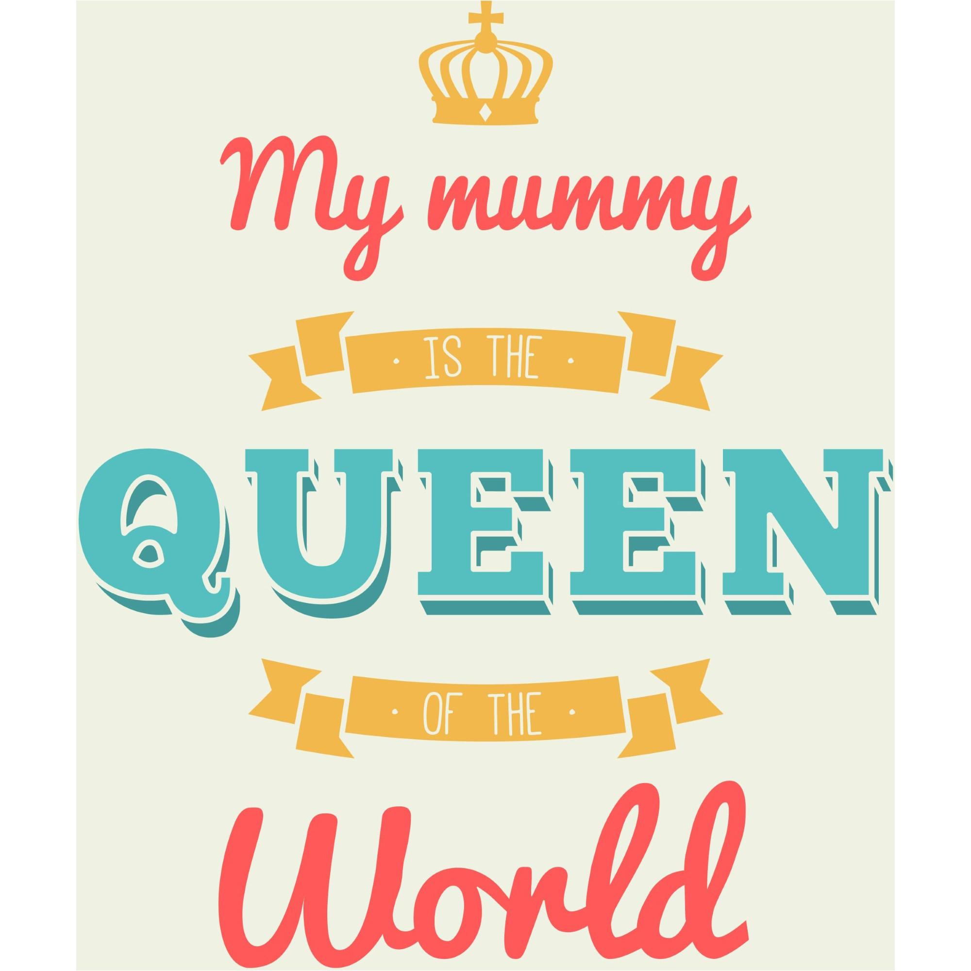 My Mom Is Queen Background Vector Happy Mother Day