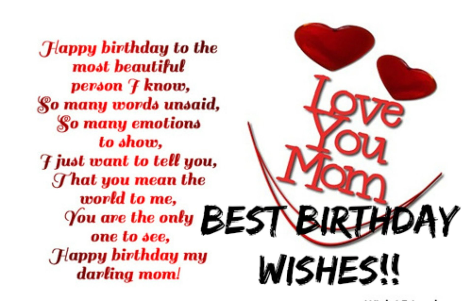Best birthday wishes for mother HD wallpaper