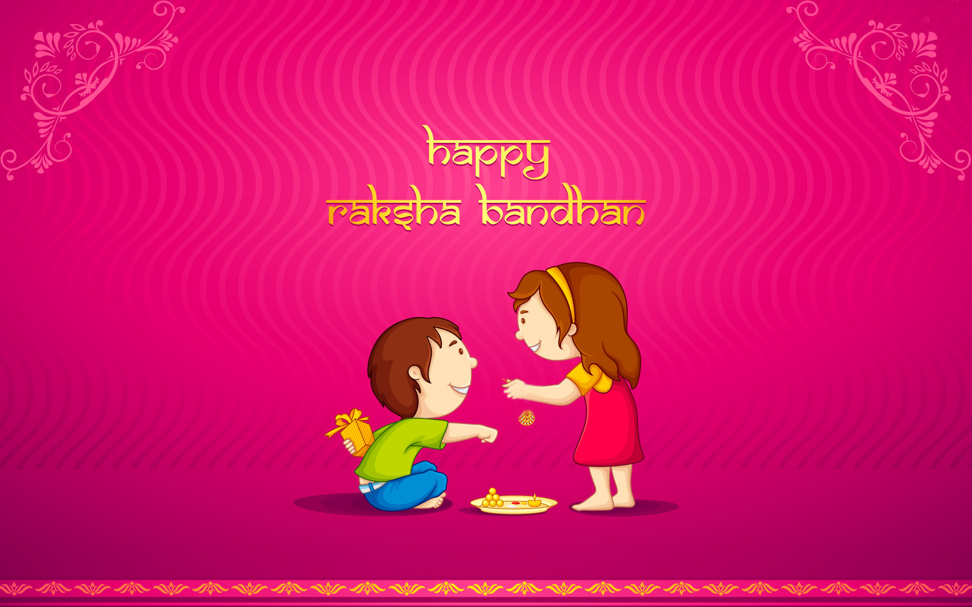 Happy Raksha Bandhan Brother And Sister Love Wallpaper