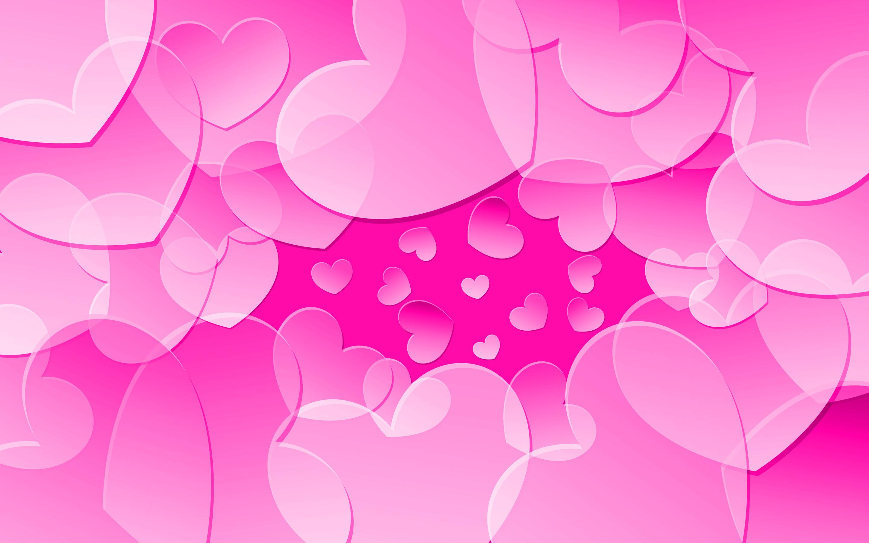 Pink hearts Wallpaper #9181