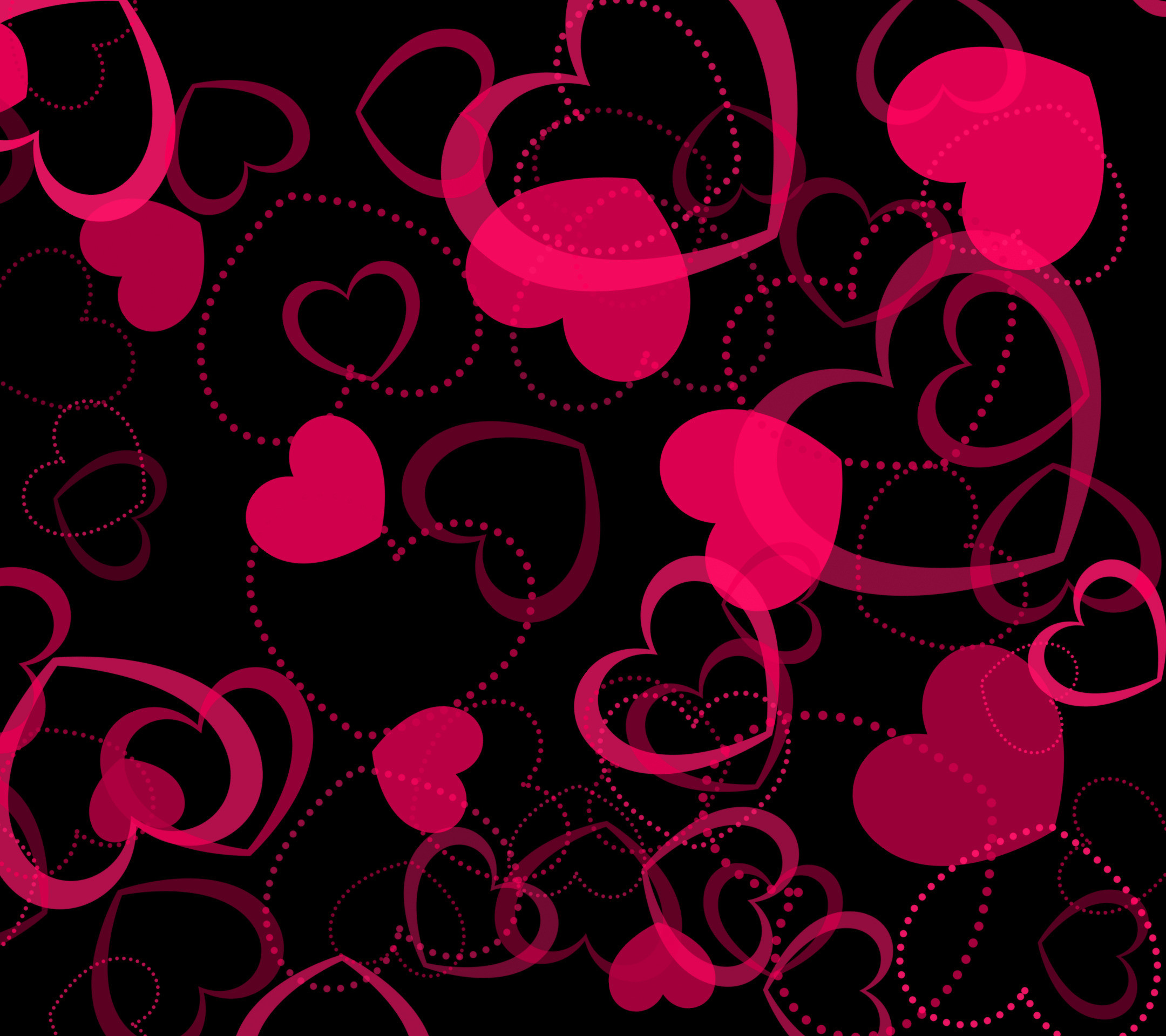 Pink Hearts Wallpapers – Wallpaper Zone
