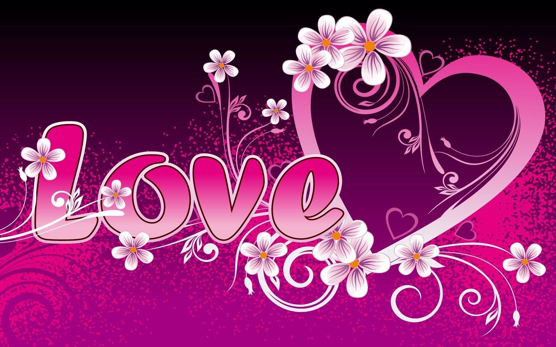 Wallpapers Backgrounds – Pink Love Heart Wallpaper Resolution