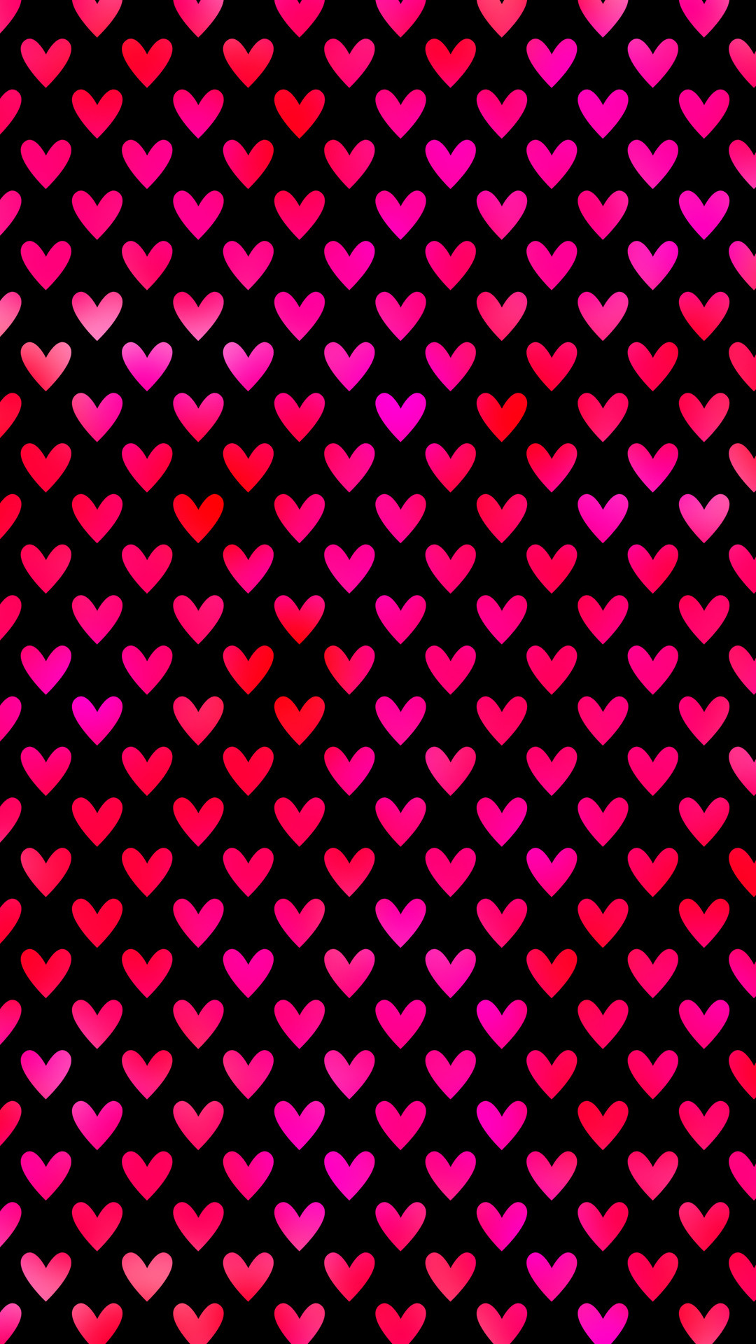 Red and pink hearts Wallpaper