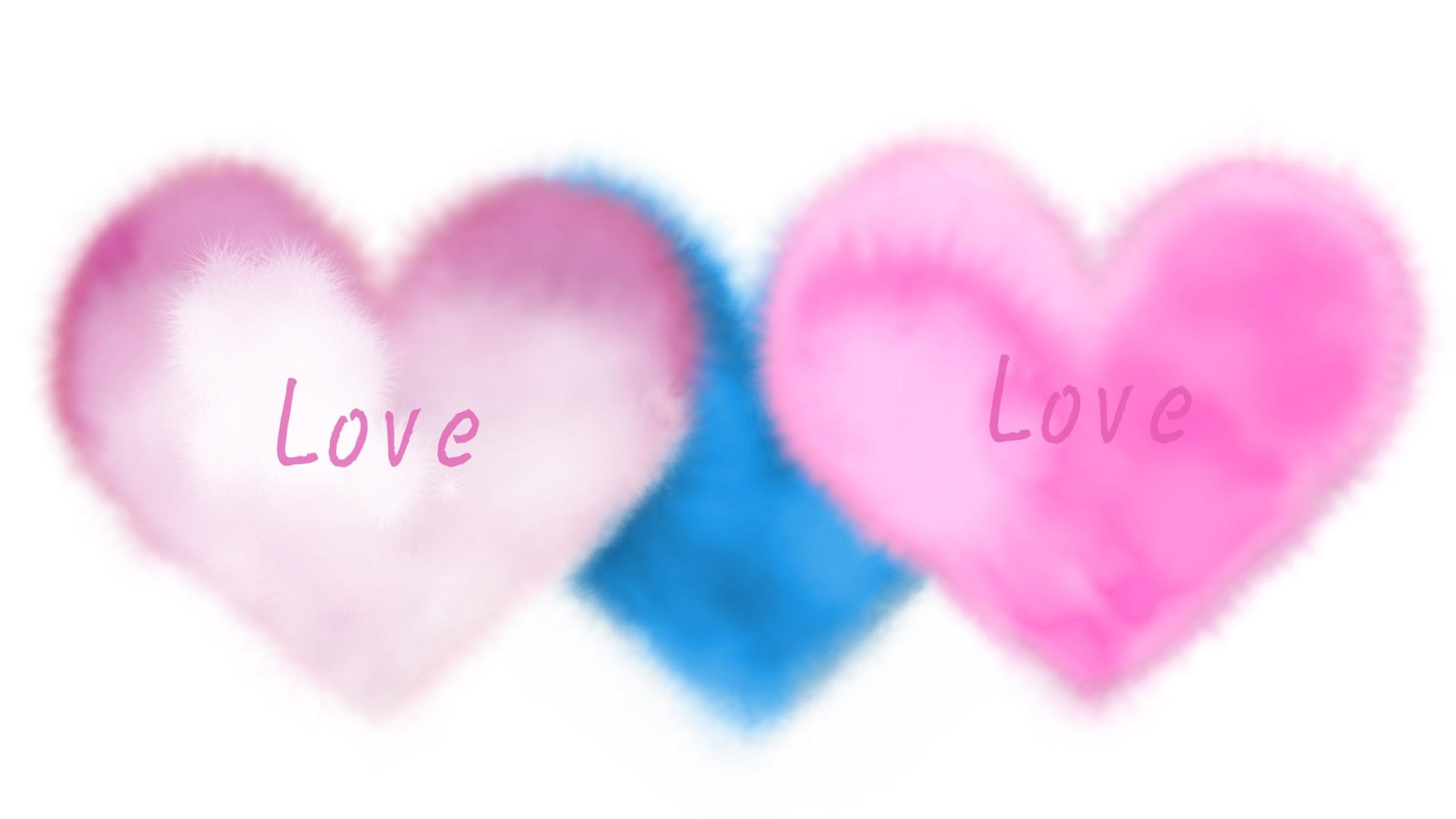 wallpaper: Pink, Heart, Love, Blue, Light wallpaper