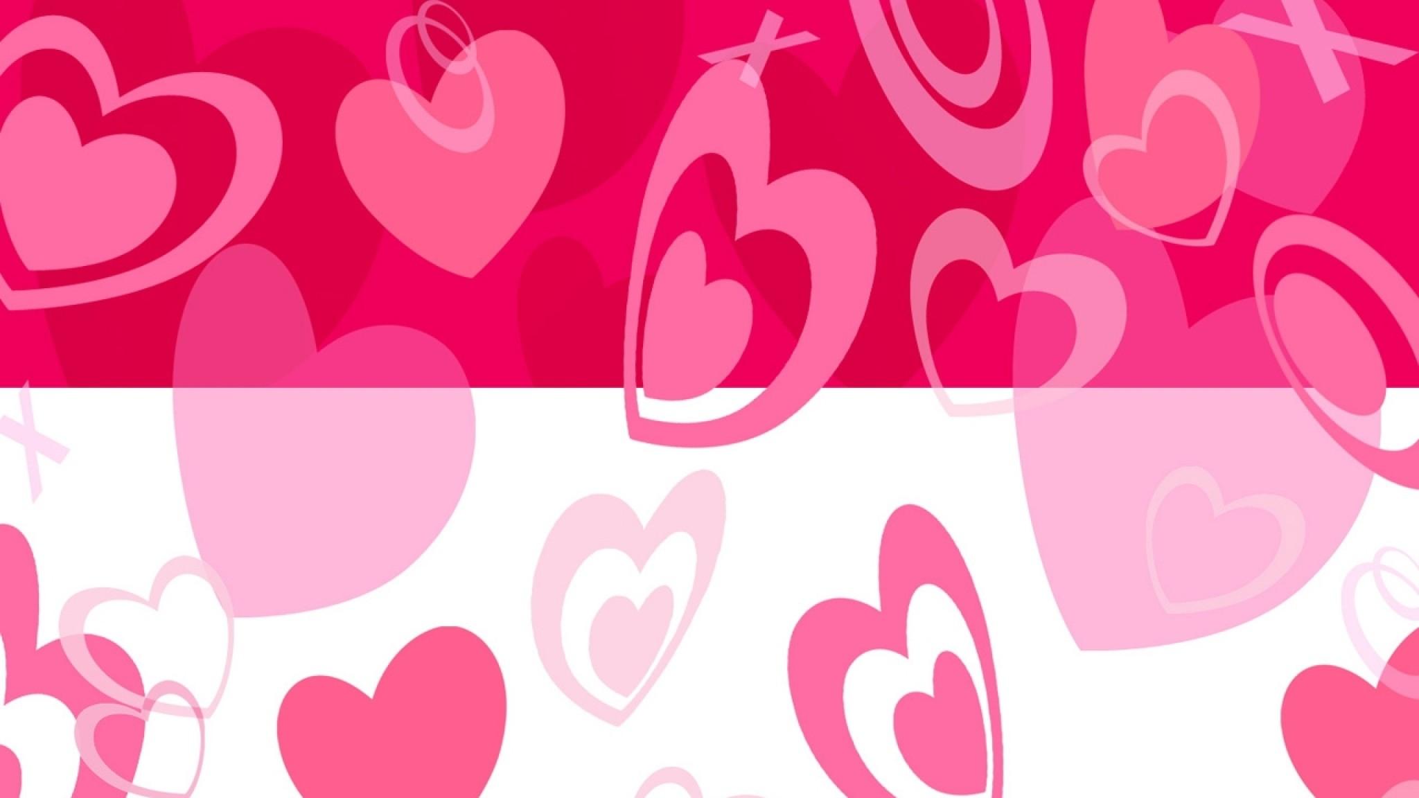 Wallpaper heart, pink, light