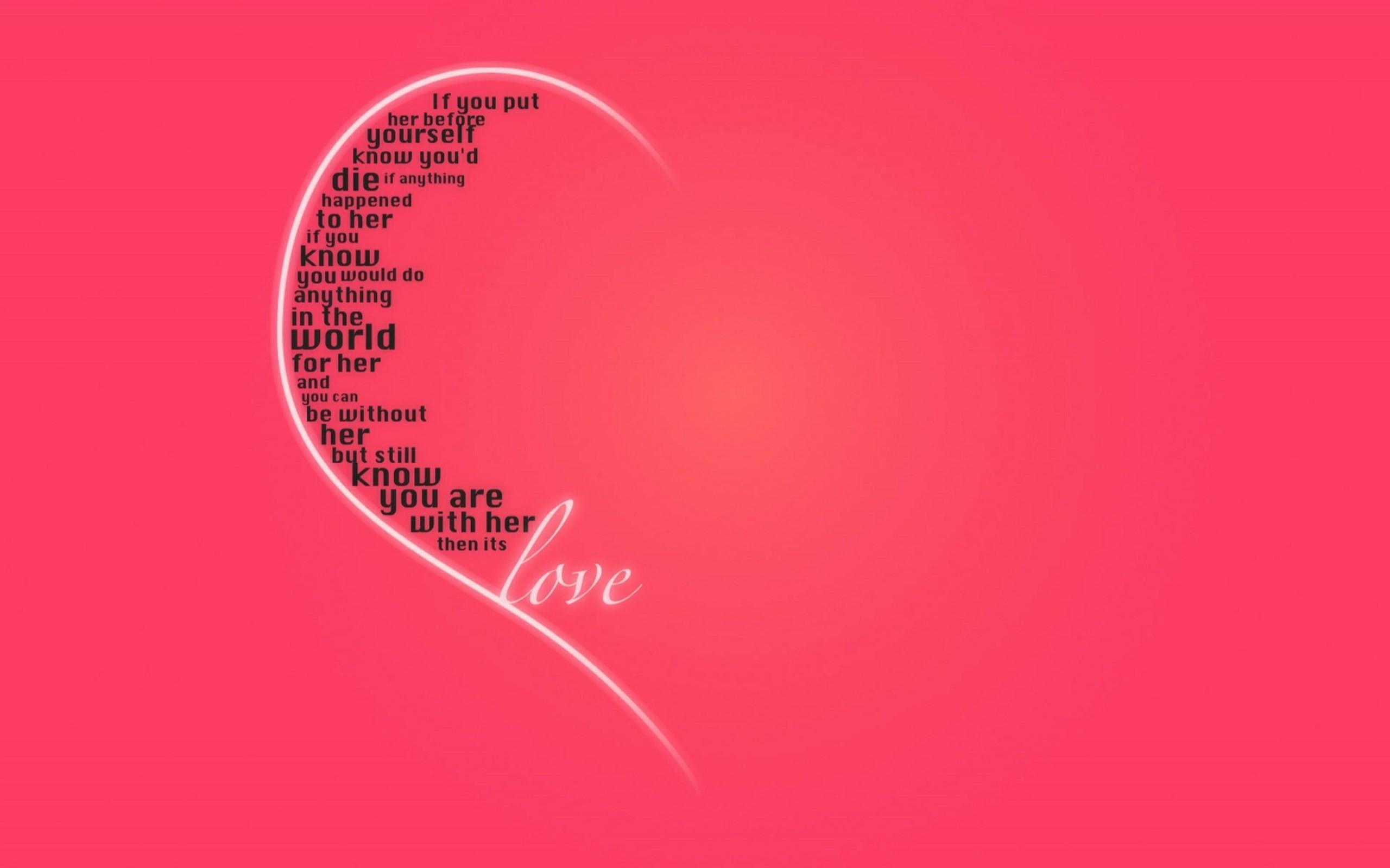 Pink Heart Love Wallpaper