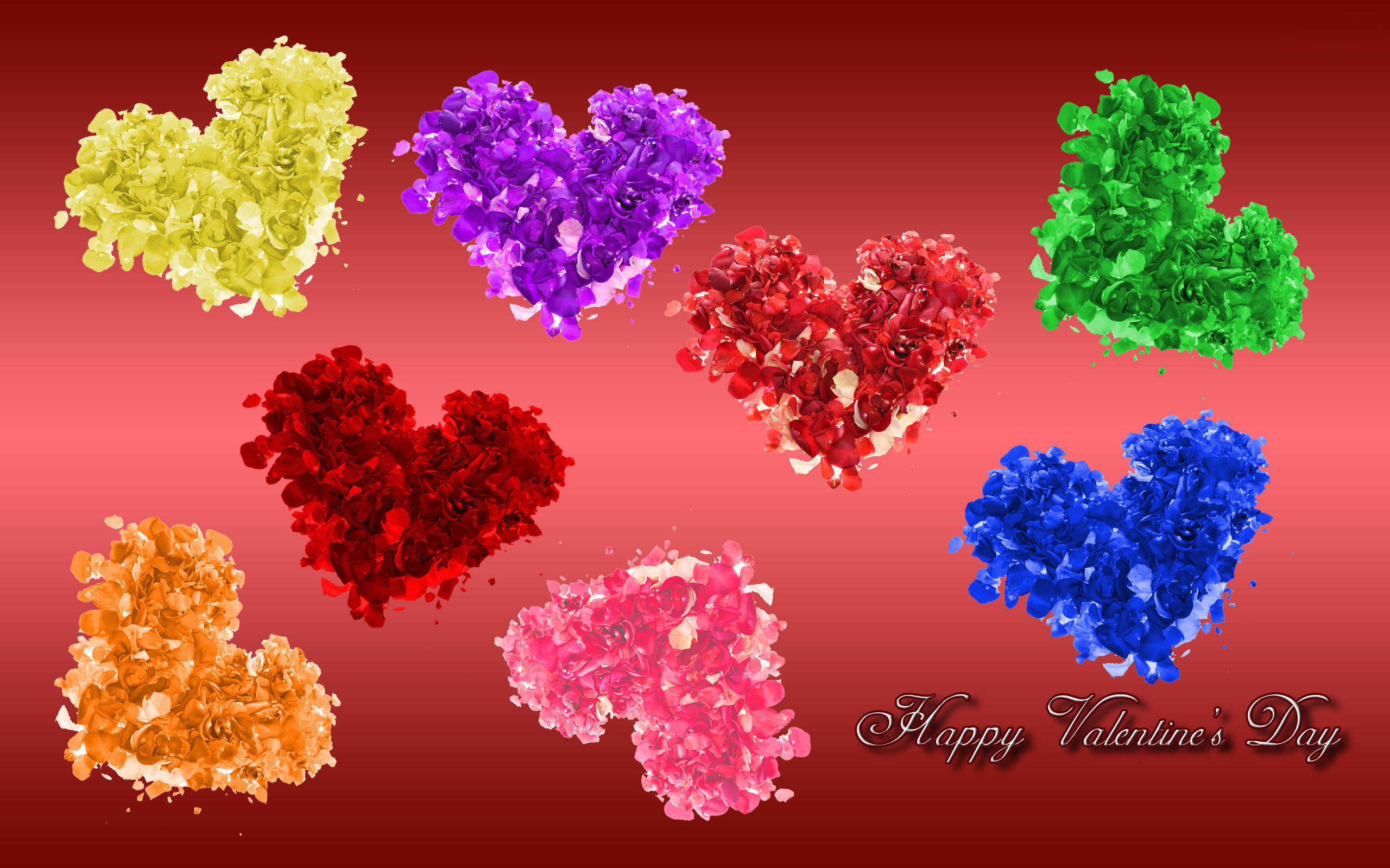 Valentines Day Colorful Wallpaper.