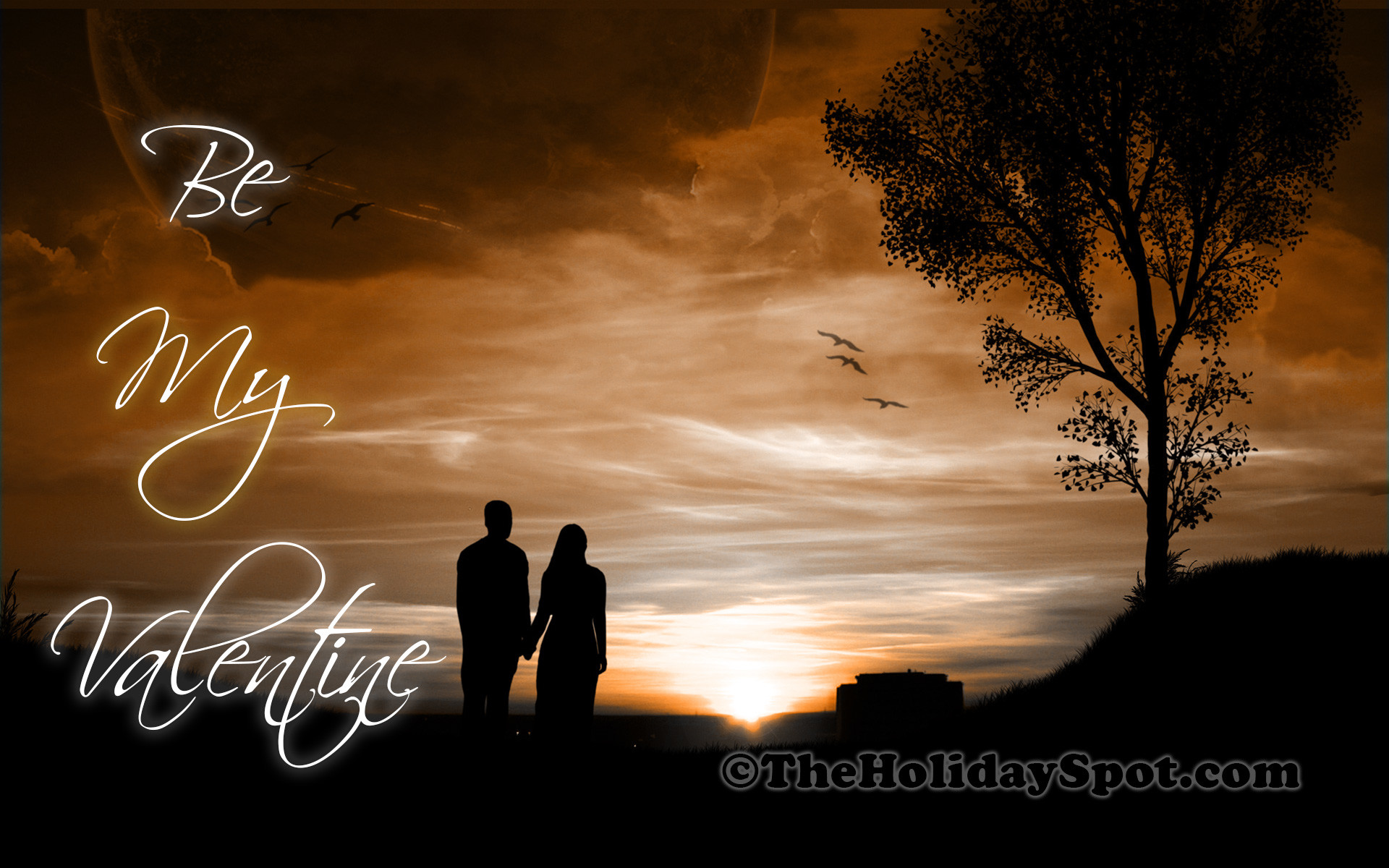High Definition Valentines Day Wallpaper of a couple walking together