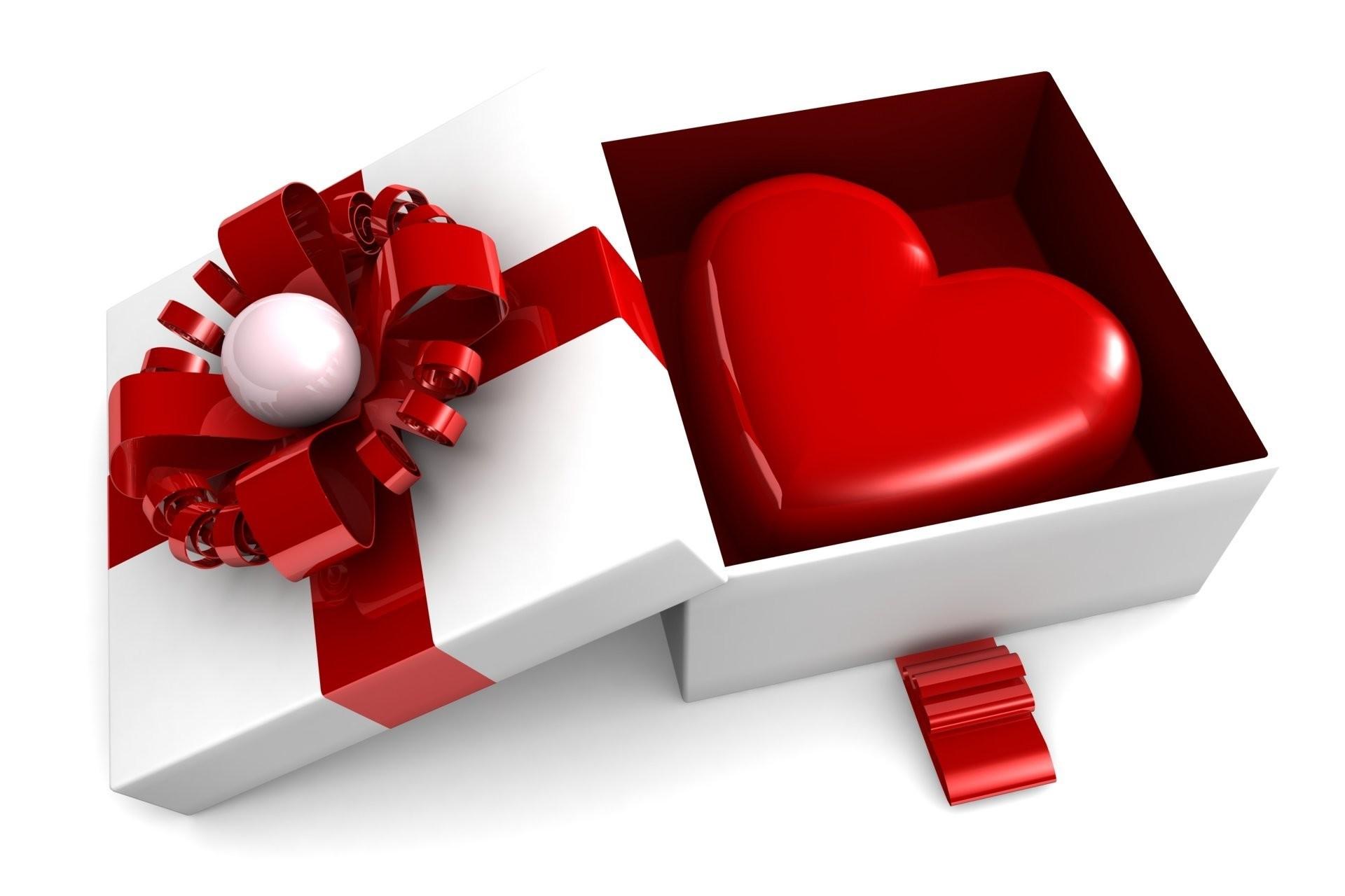 valentine's day romantic heart gift love box heart present