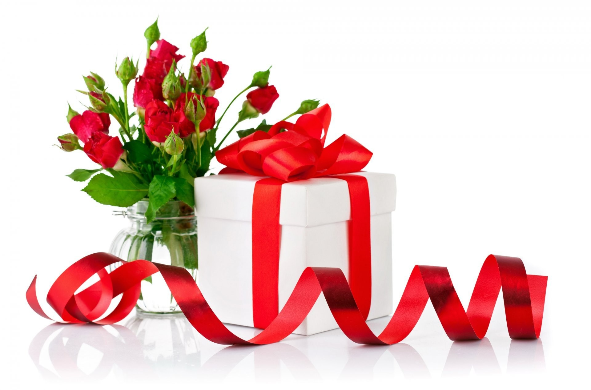 flowers rose gift valentine's day flower roses present bow