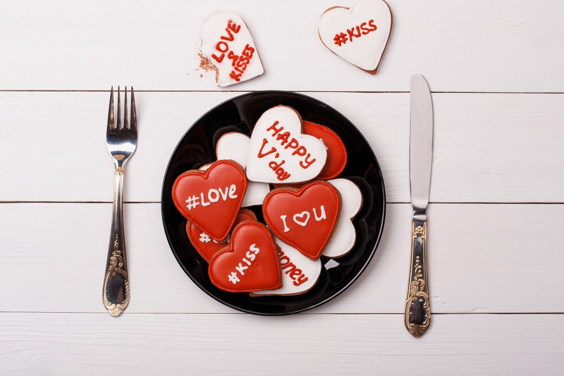 heart dish fork knife table tags valentine's day 14 february valentine's day  dinner breakfast.